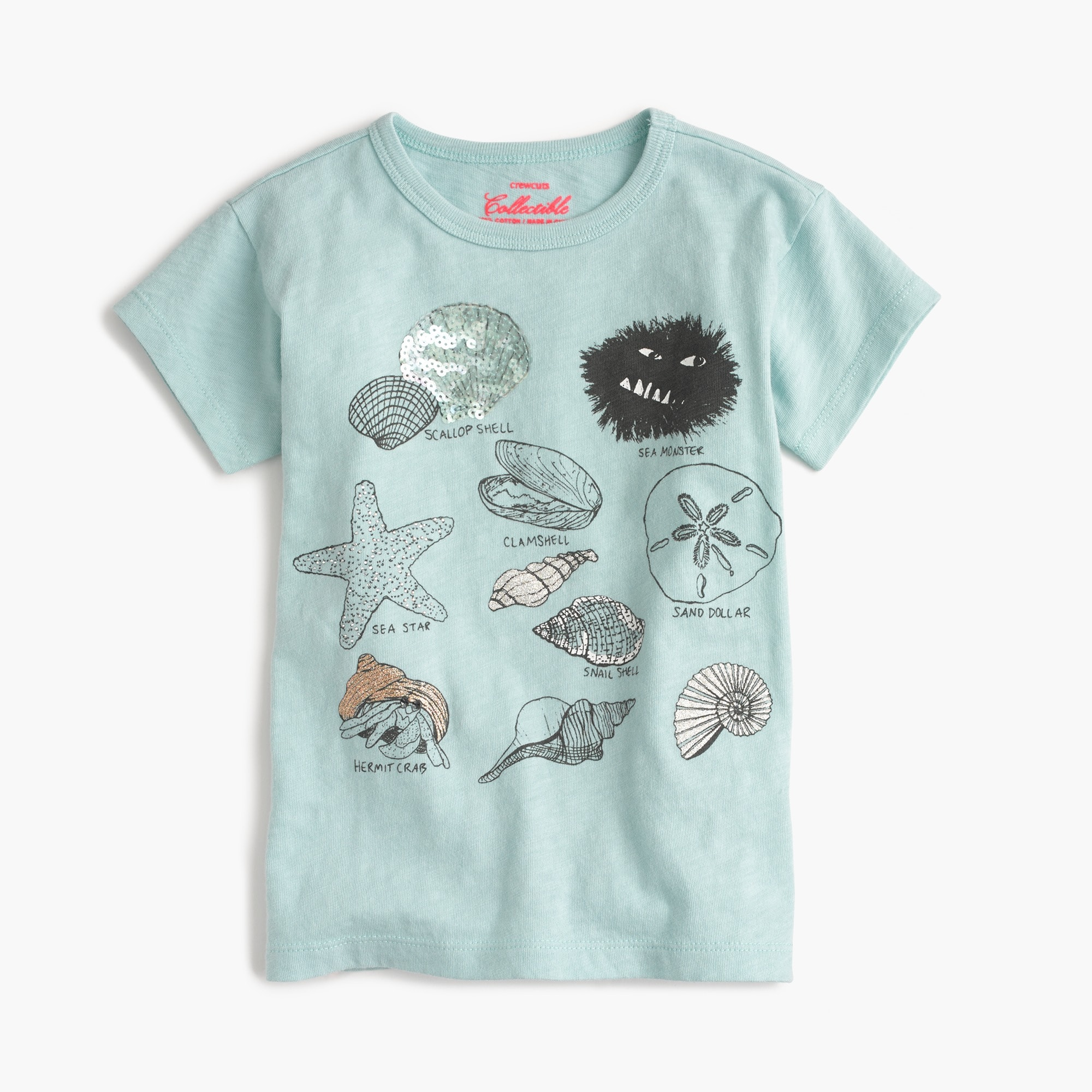 girls' max the monster shell collecting t-shirt : girl collectible t-shirts