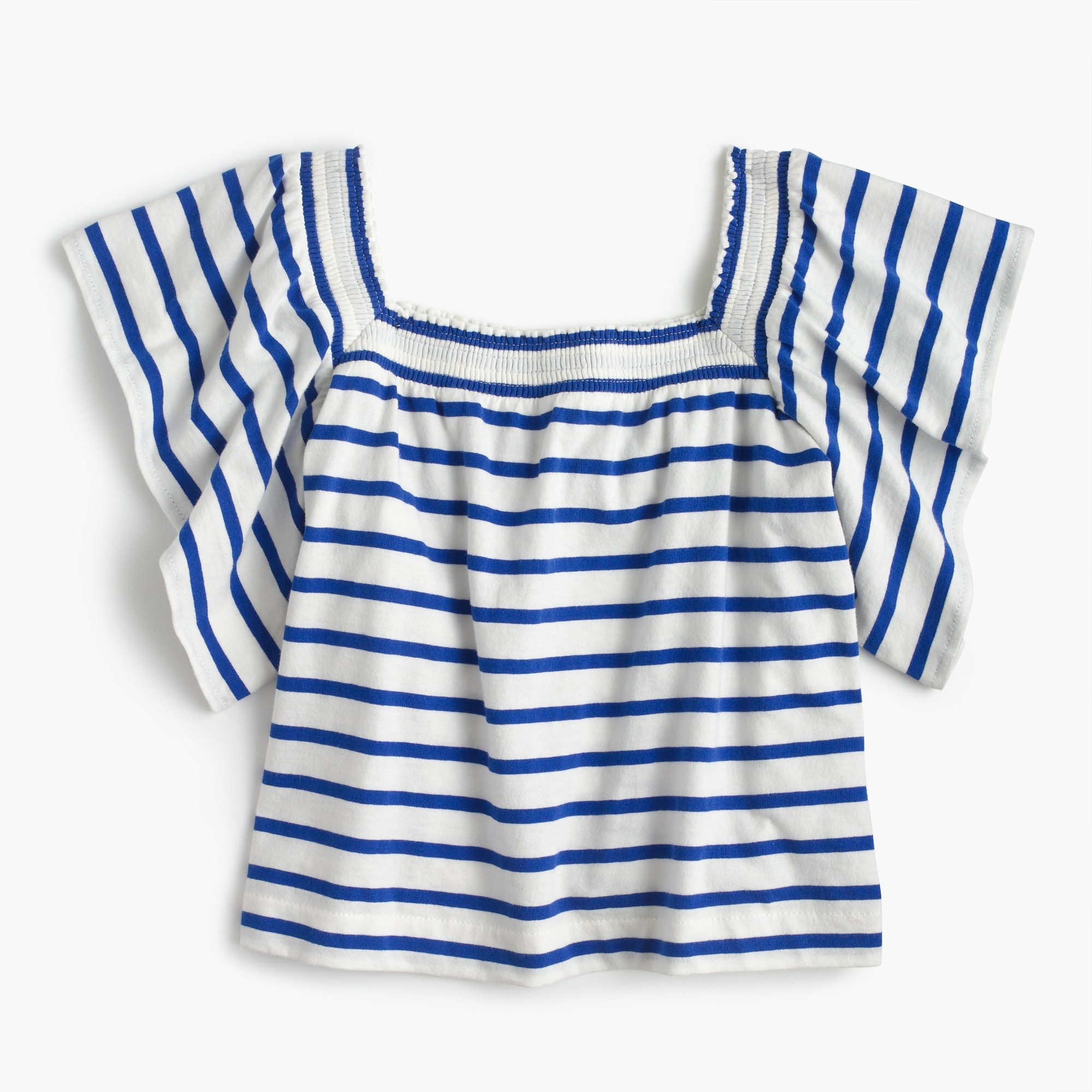girls' two-way striped top : girl short-sleeve t-shirts