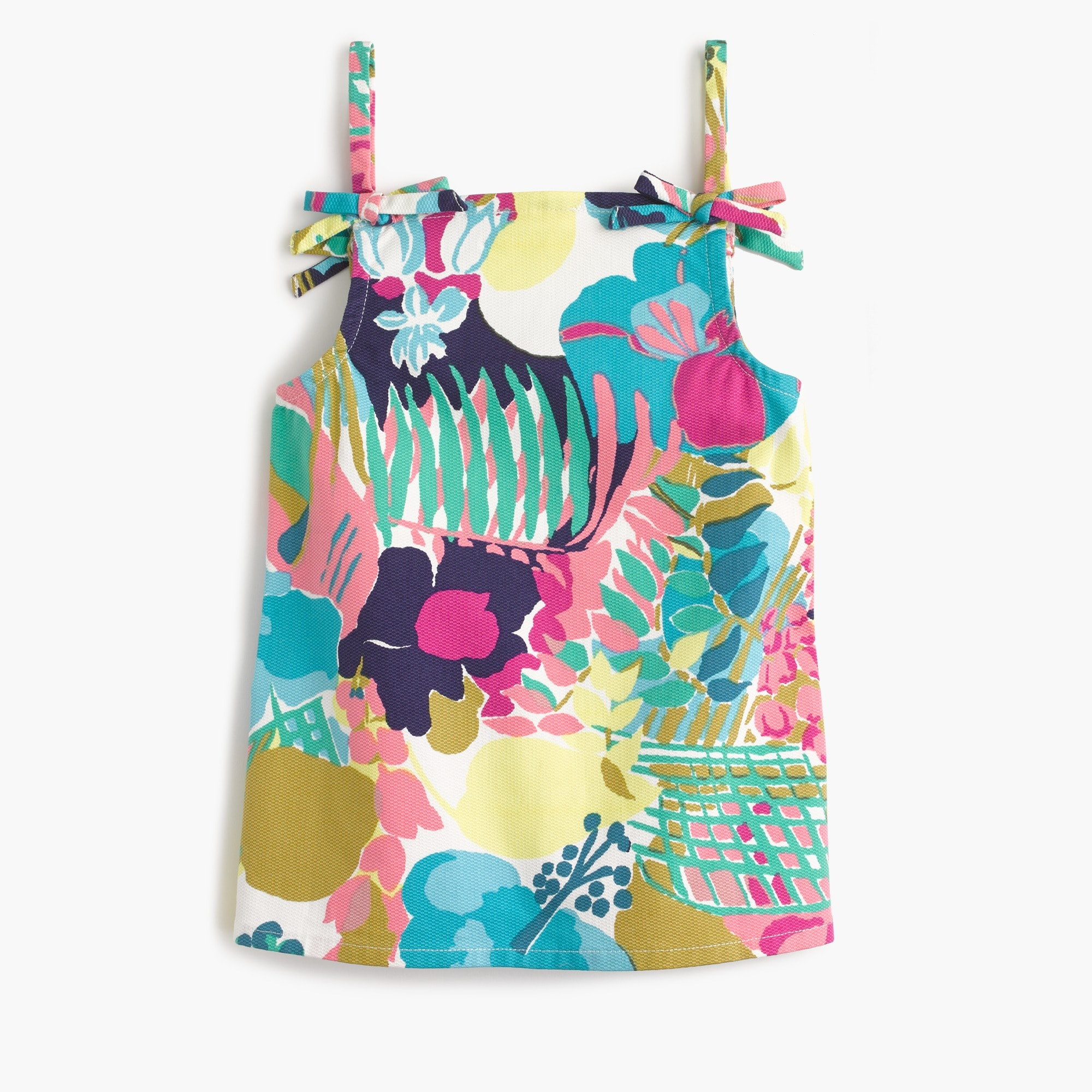 Girls' spaghetti strap top in seaside floral