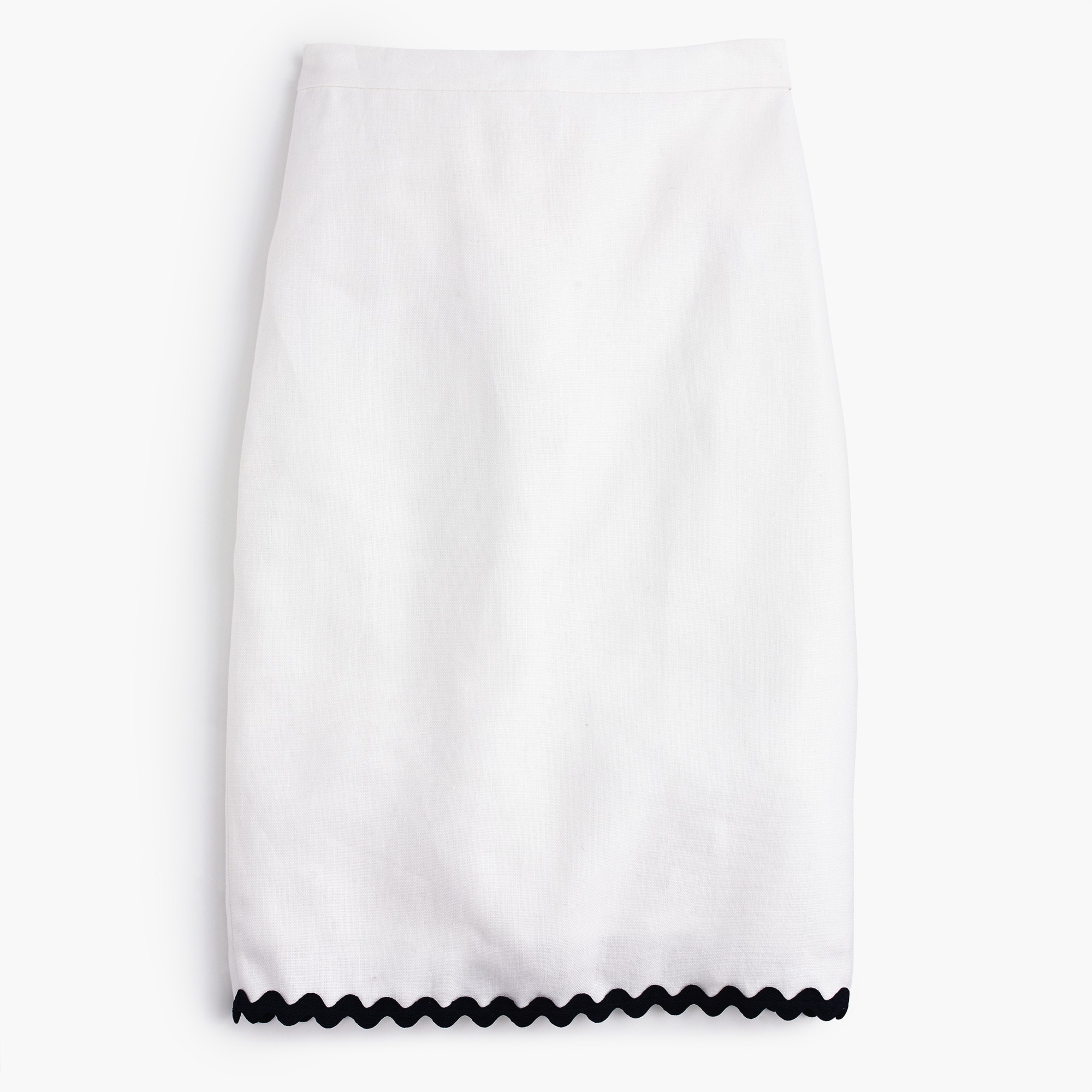 Image 1 for Petite linen pencil skirt with rickrack trim