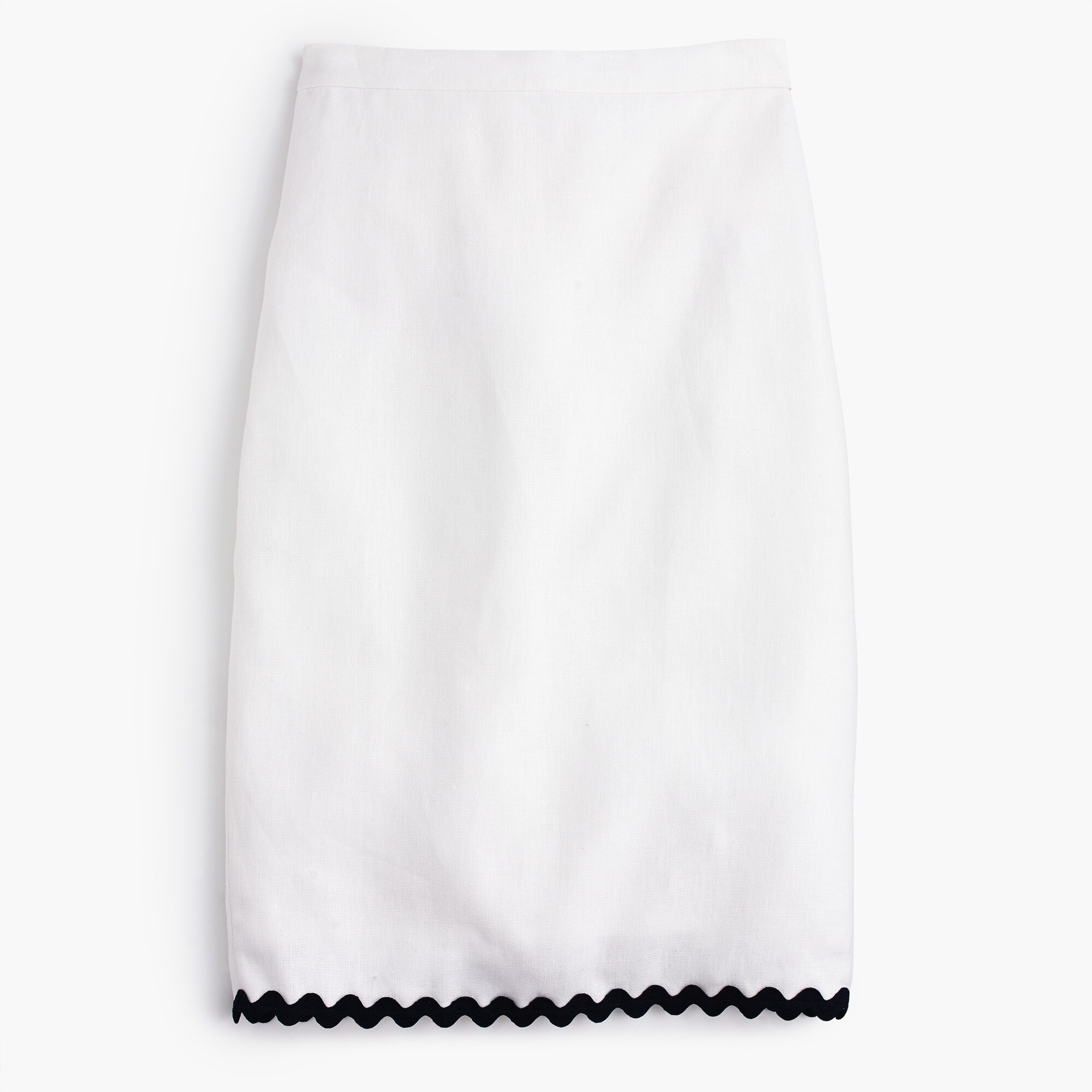 petite linen pencil skirt with rickrack trim : women skirts