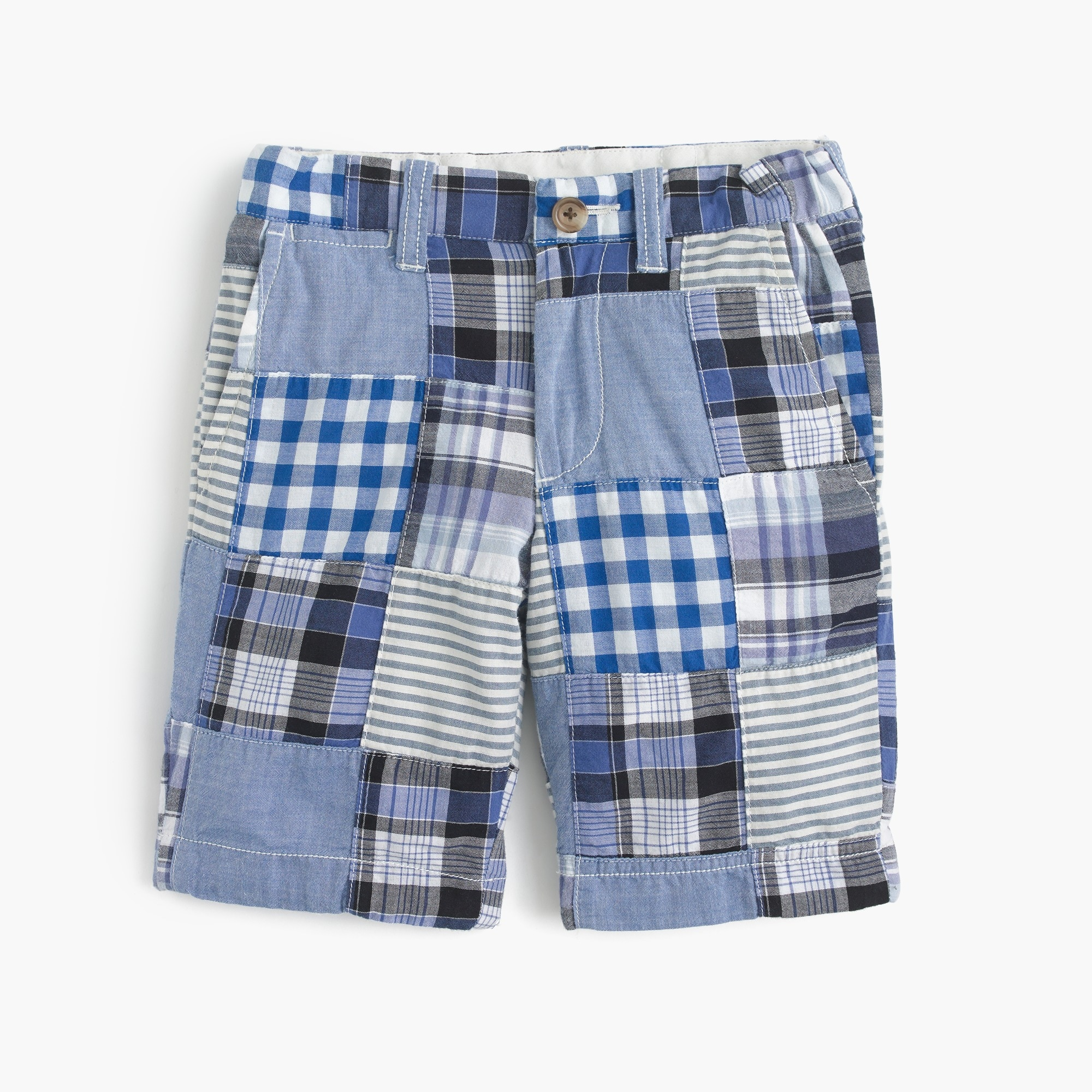boys' stanton short in patchwork plaid : boy stanton shorts