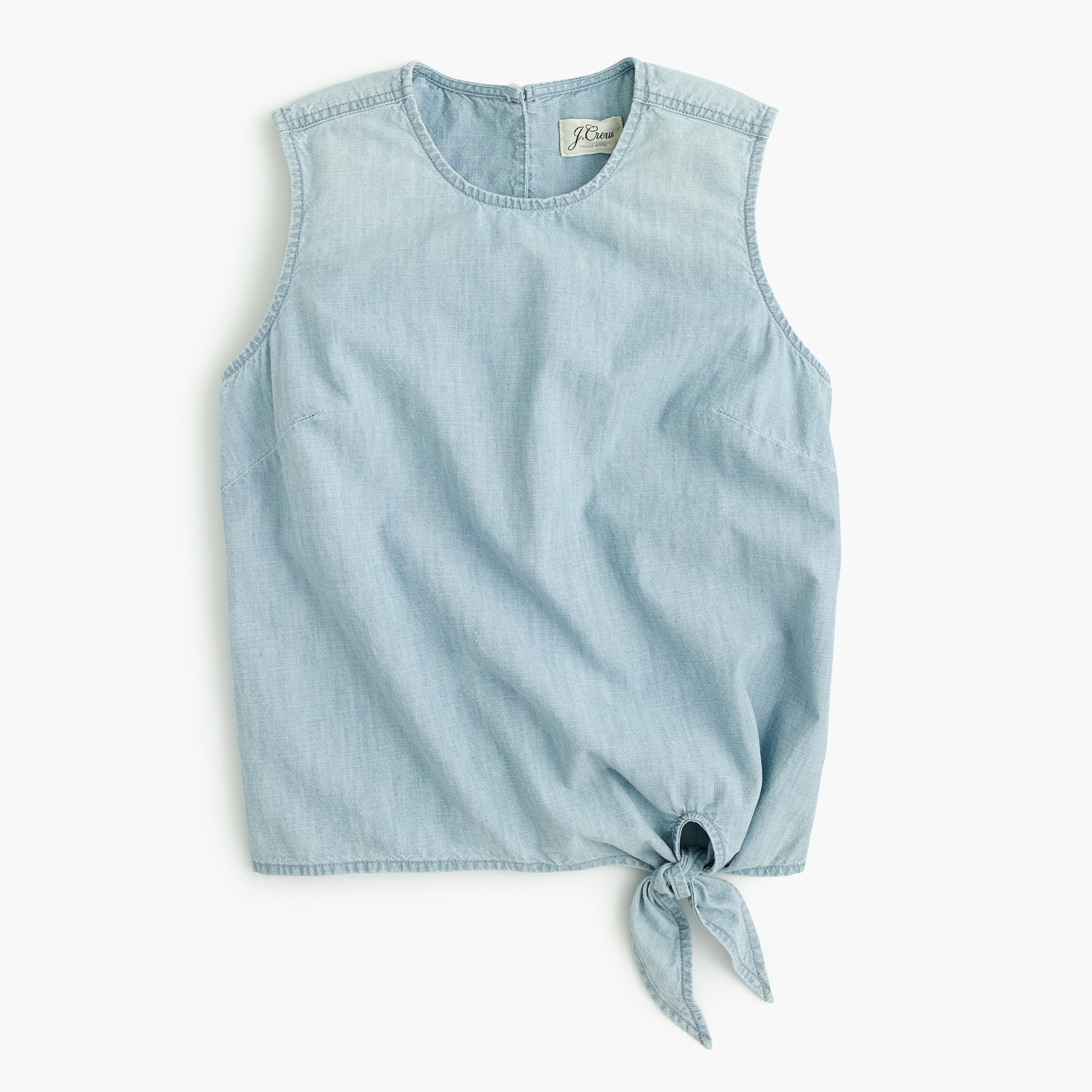 Image 2 for Chambray tie-waist top