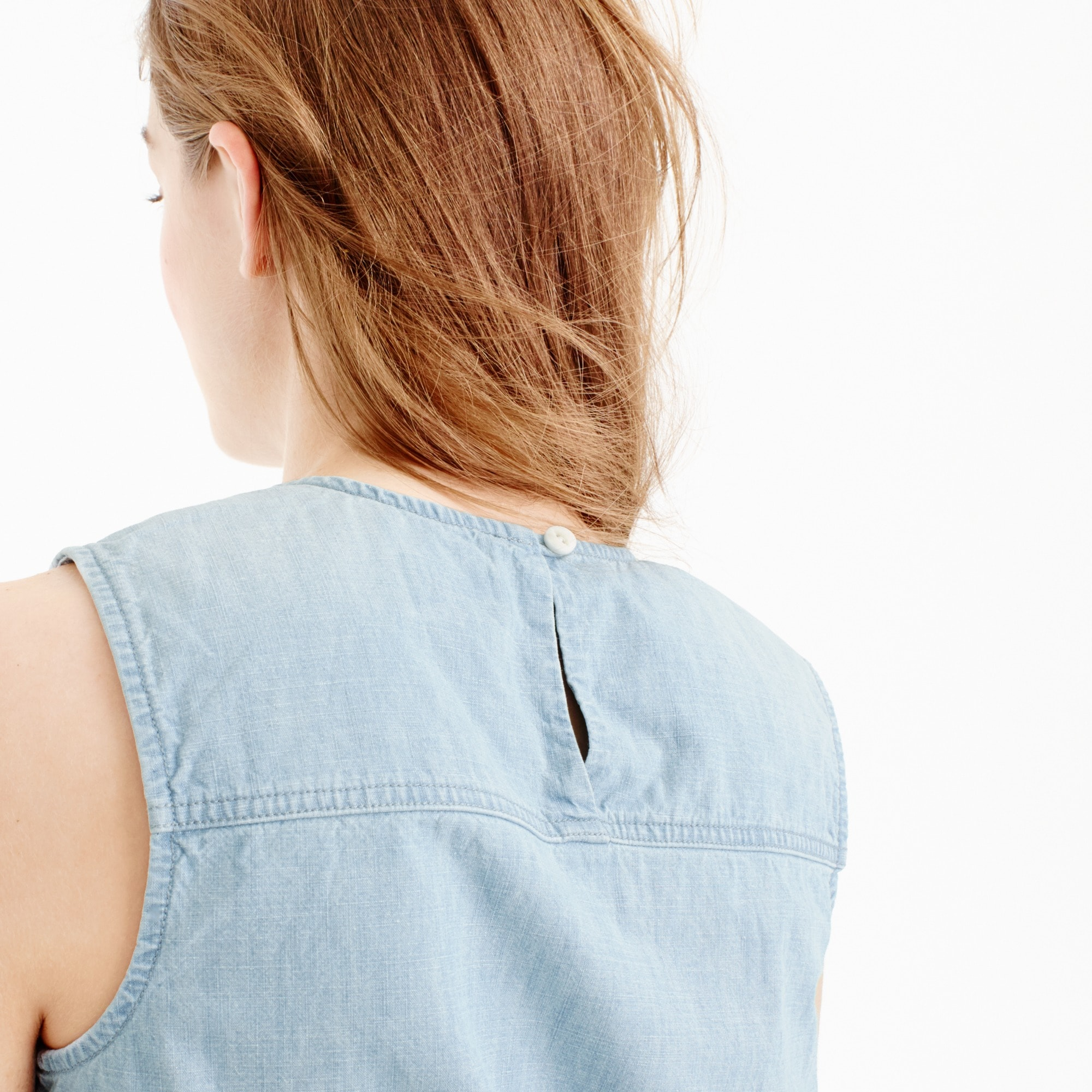 Image 3 for Chambray tie-waist top
