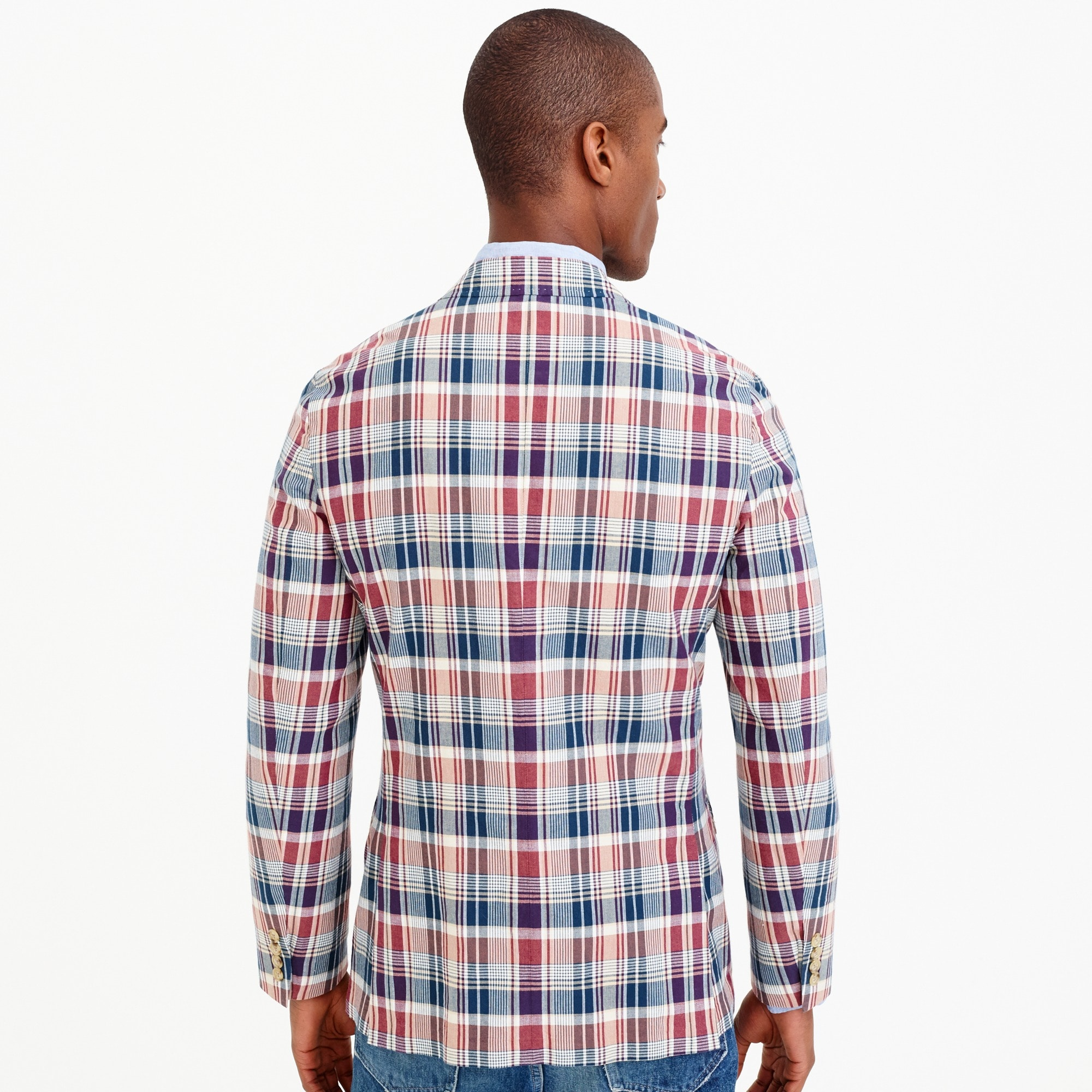 Unstructured Ludlow blazer in madras