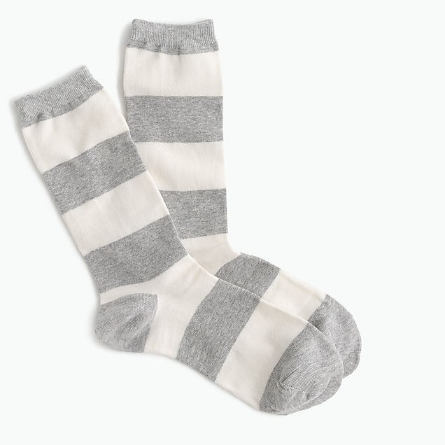 Trouser socks in rugby stripe