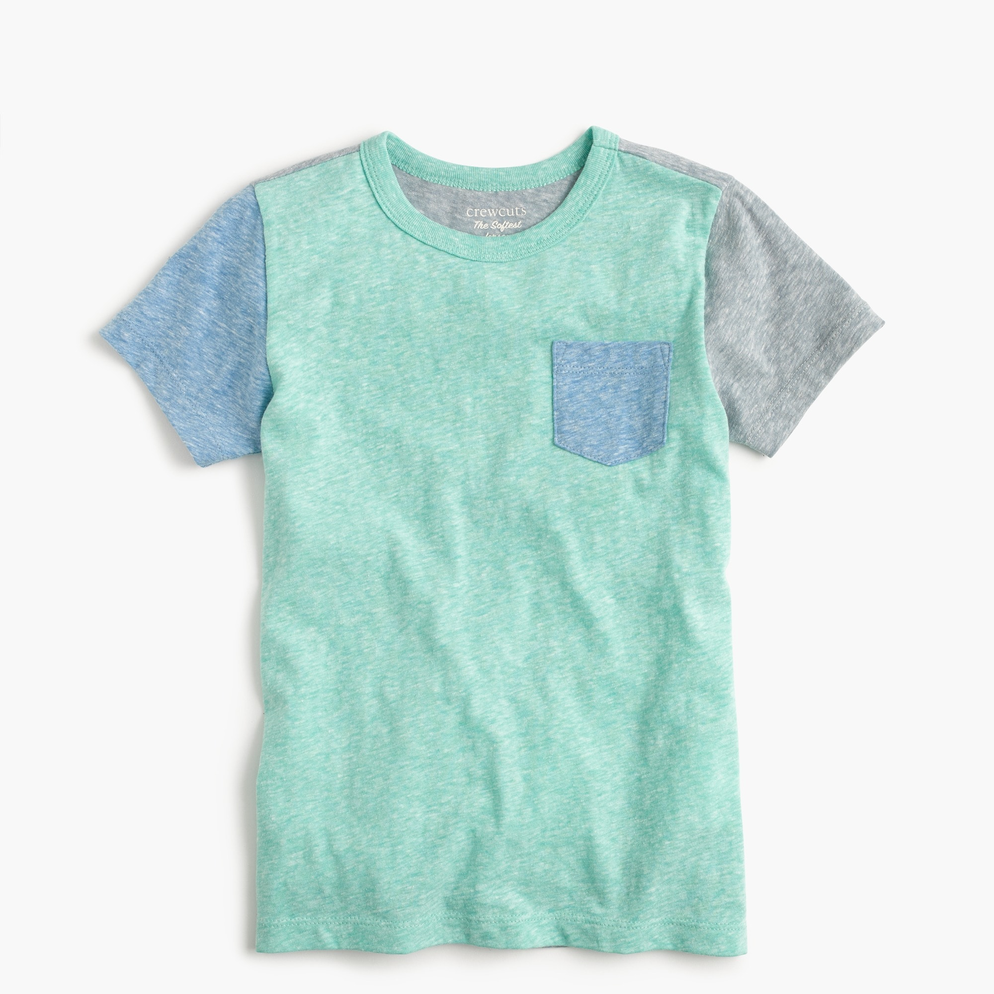 boys' short-sleeve colorblocked pocket t-shirt : boy stripes & novelty