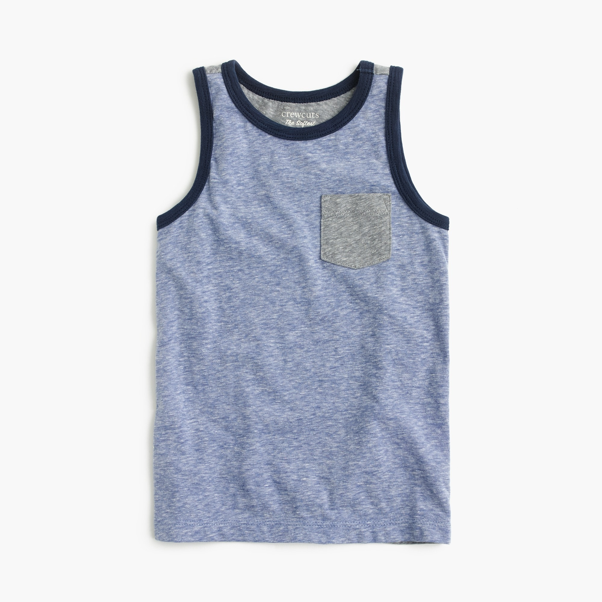 Image 1 for Boys' colorblocked pocket tank top