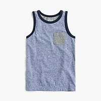 Boys' colorblocked pocket tank top