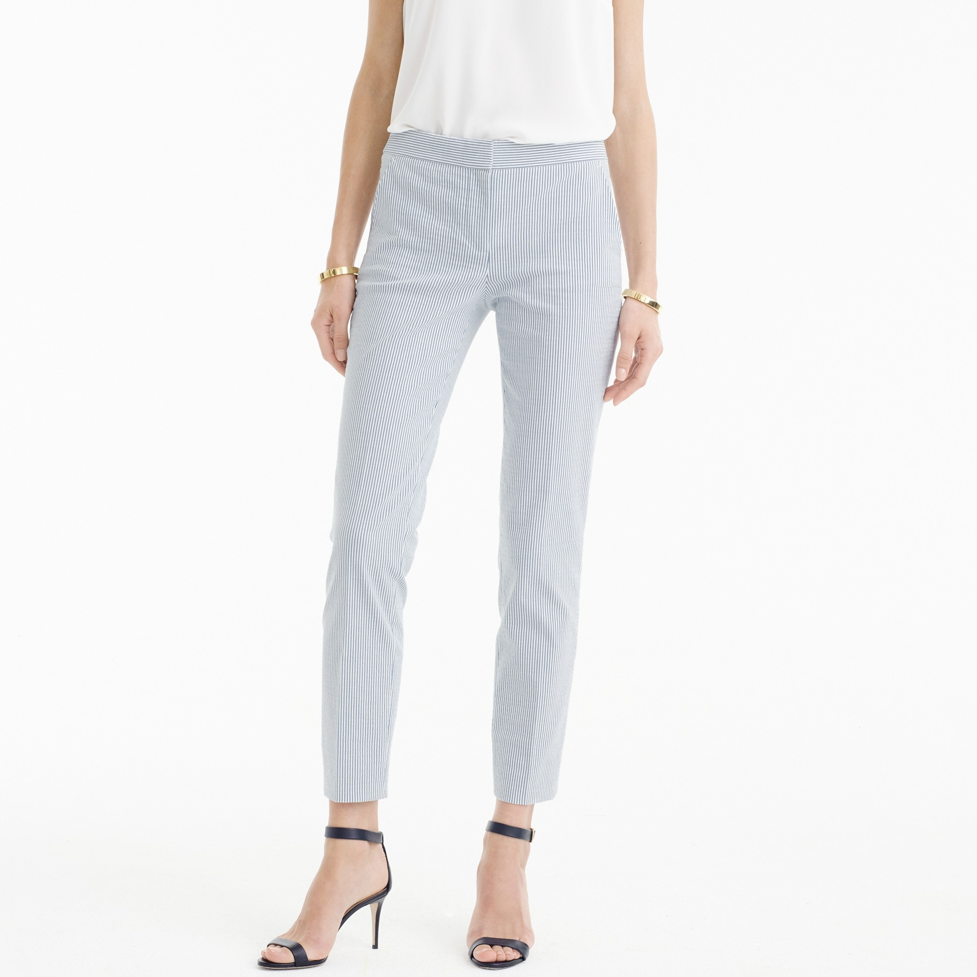 Paley pant in stretch seersucker