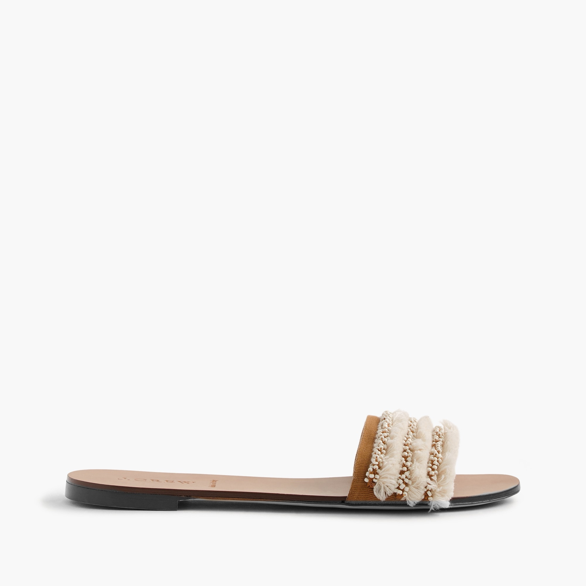 embellished slides : women sandals