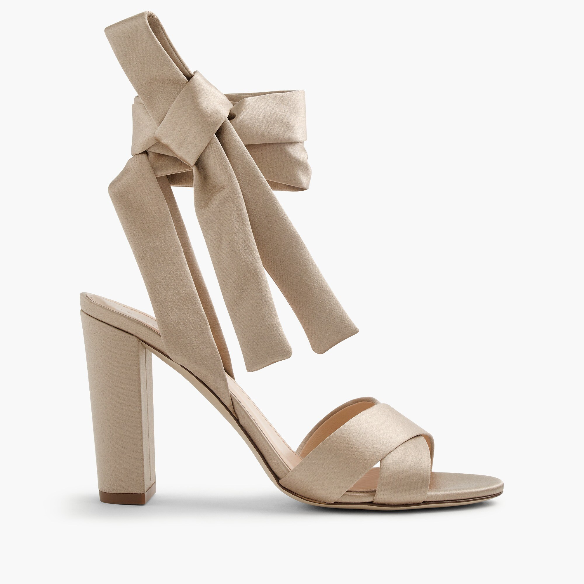 satin sandals with ankle wraps : women sandals