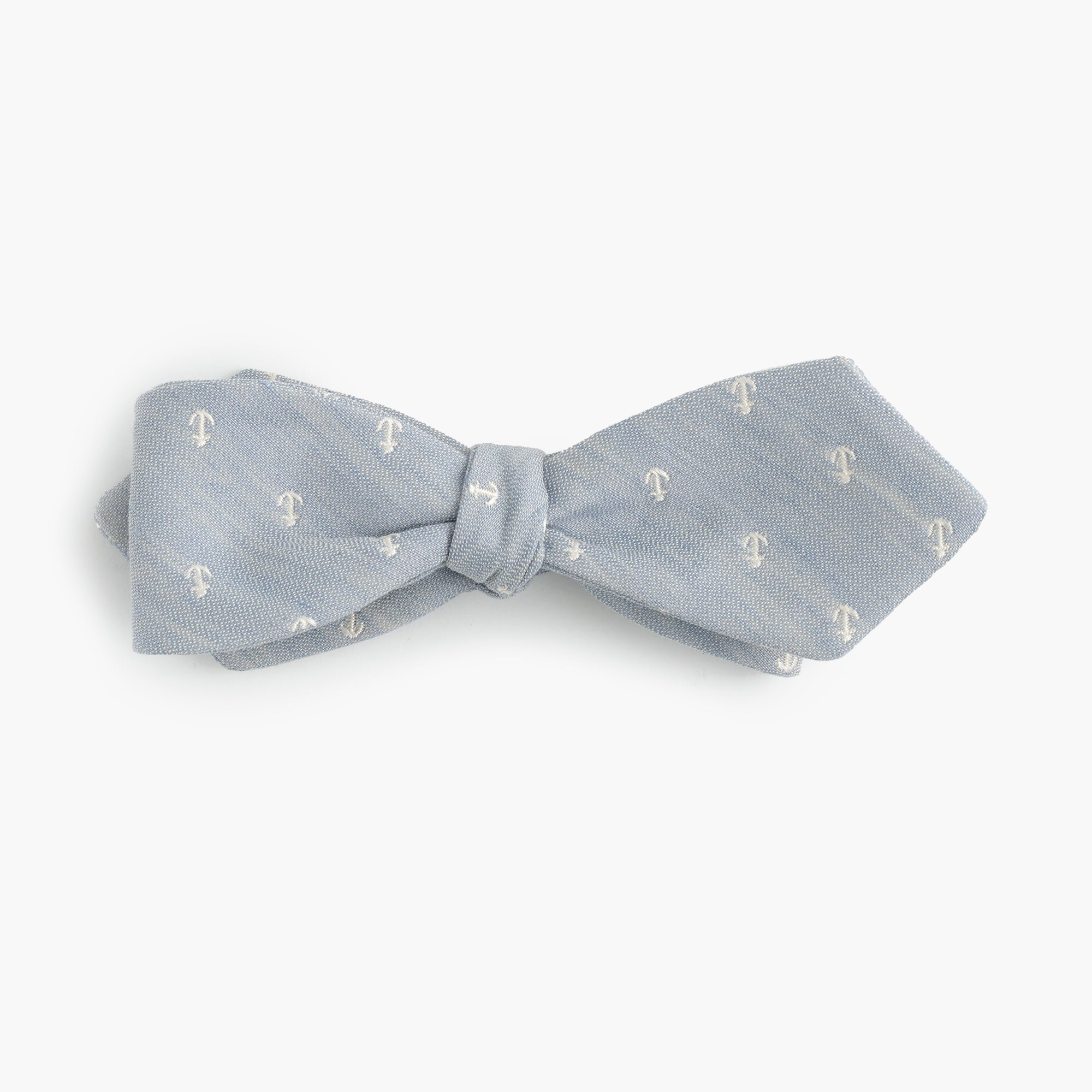 Image 1 for Cotton-linen bow tie in anchor print