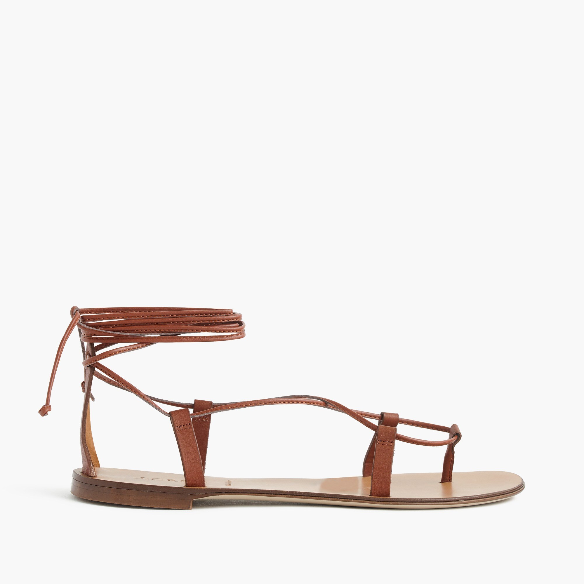 leather lace-up sandals : women sandals