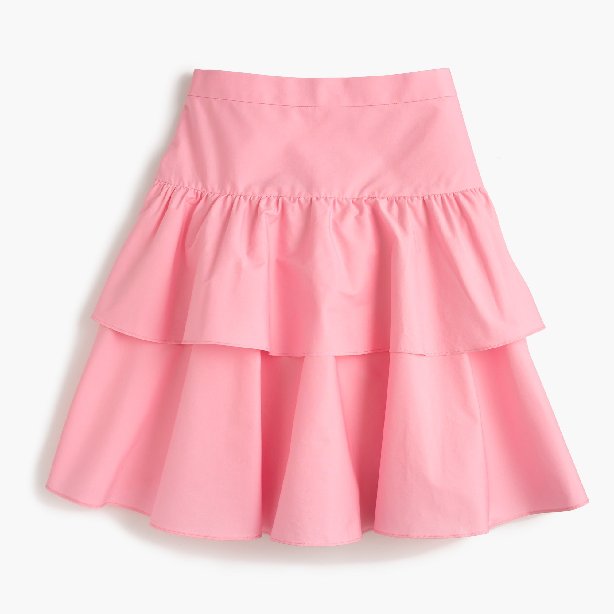 petite tiered ruffle skirt : women mini