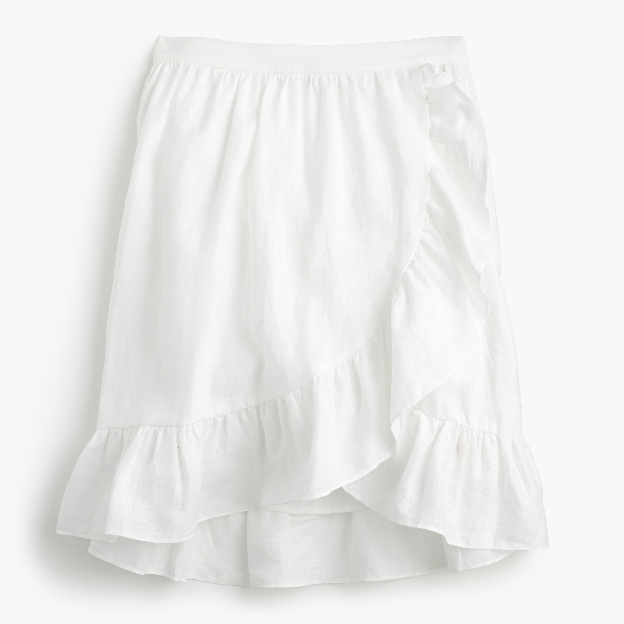 Image 2 for Tall linen ruffle skirt