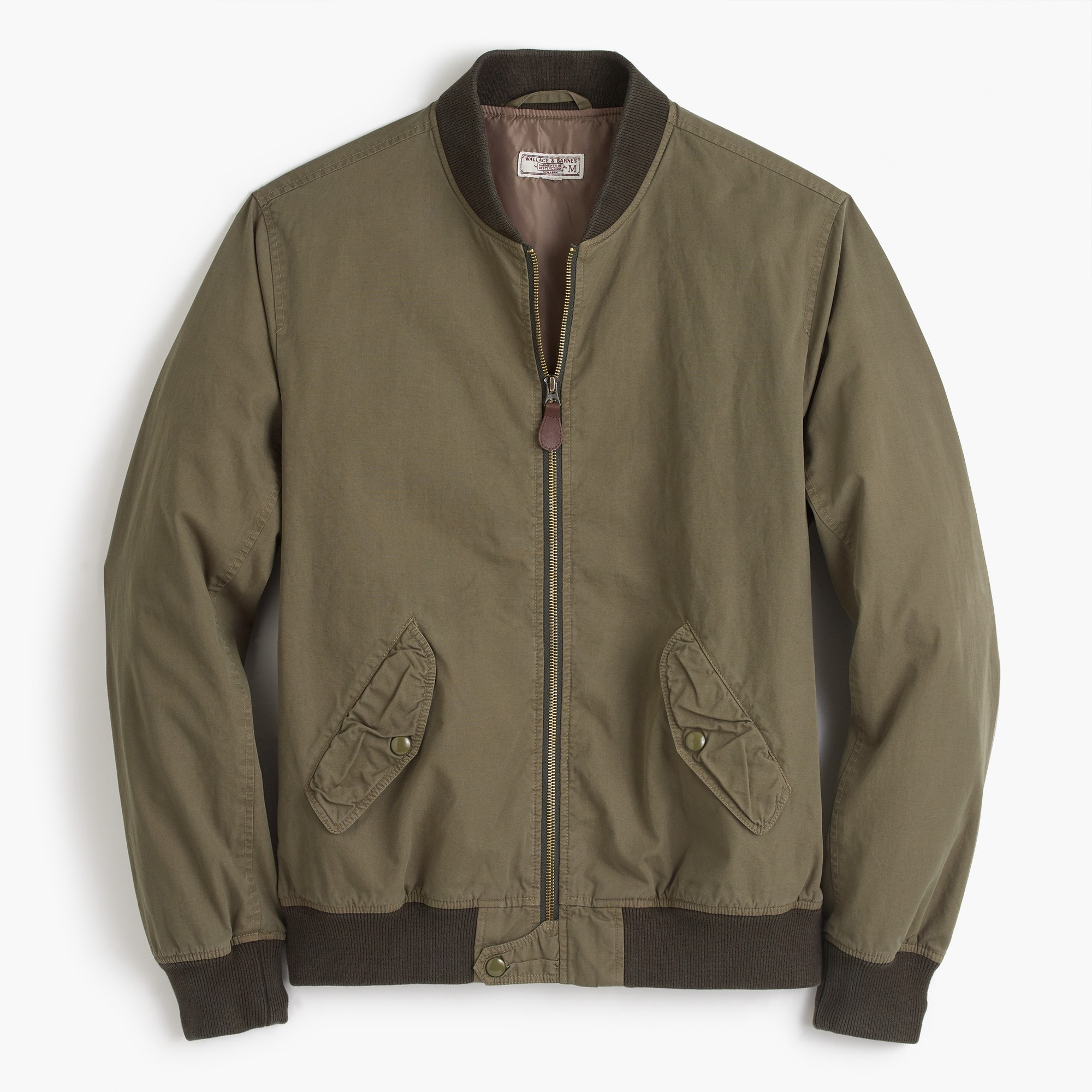 Tall Wallace & Barnes garment-dyed cotton MA-1 bomber jacket