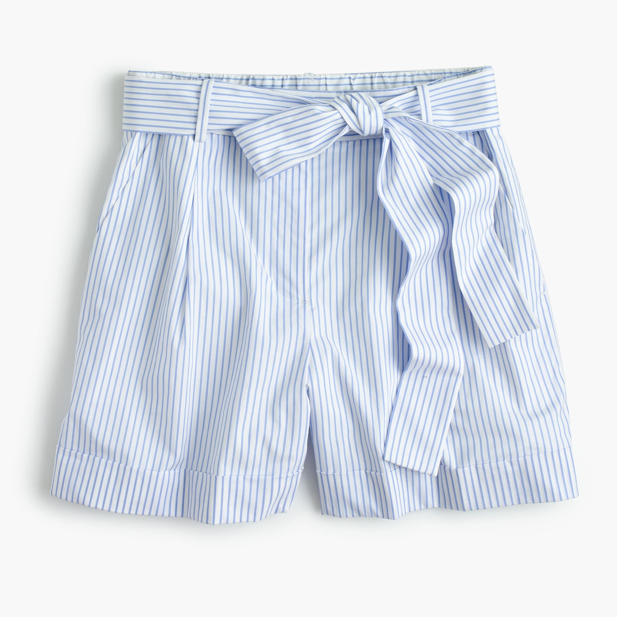 Image 2 for Tie-waist short in shirting stripe