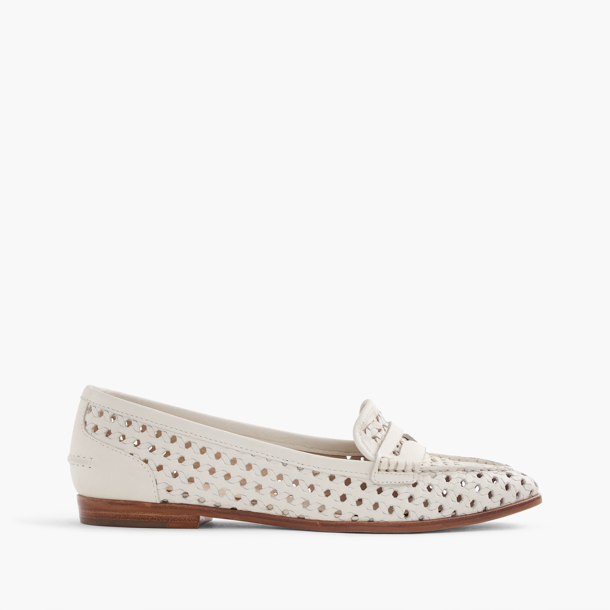 collins woven-leather loafers : women shoes