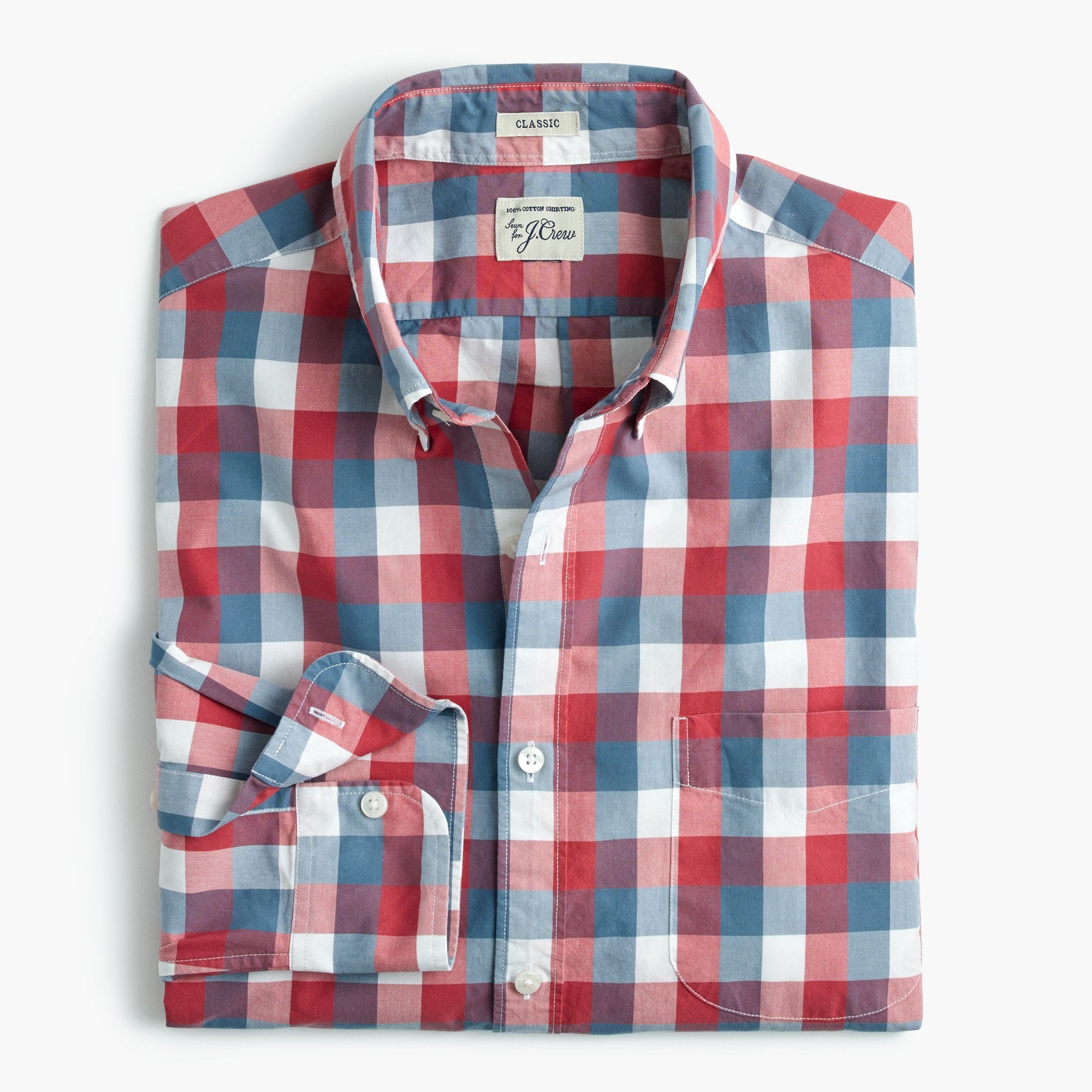 men's tall secret wash shirt in exploded pink check - men's shirts
