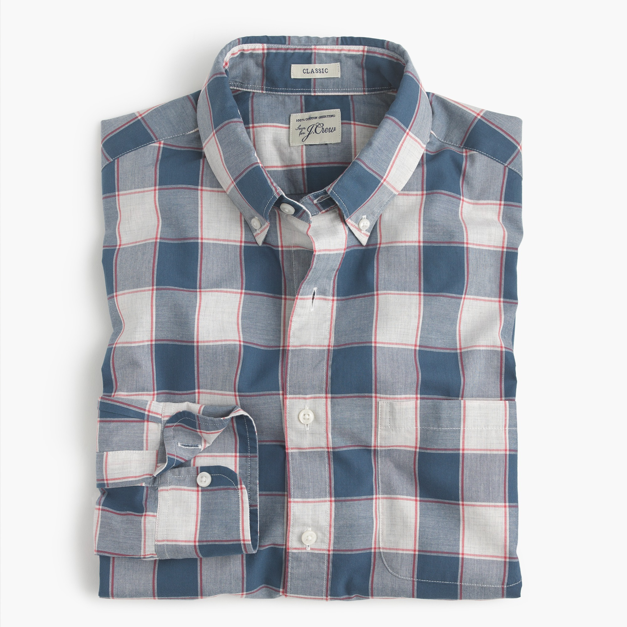tall heather poplin shirt in check : men secret wash