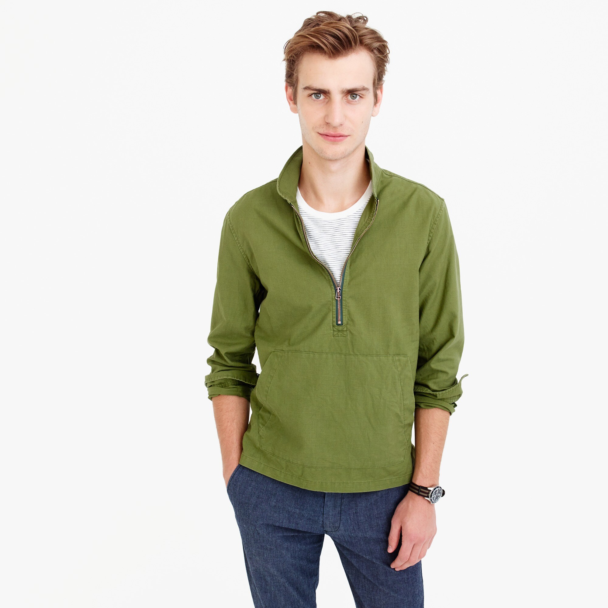 Image 1 for Wallace & Barnes half-zip pullover shirt
