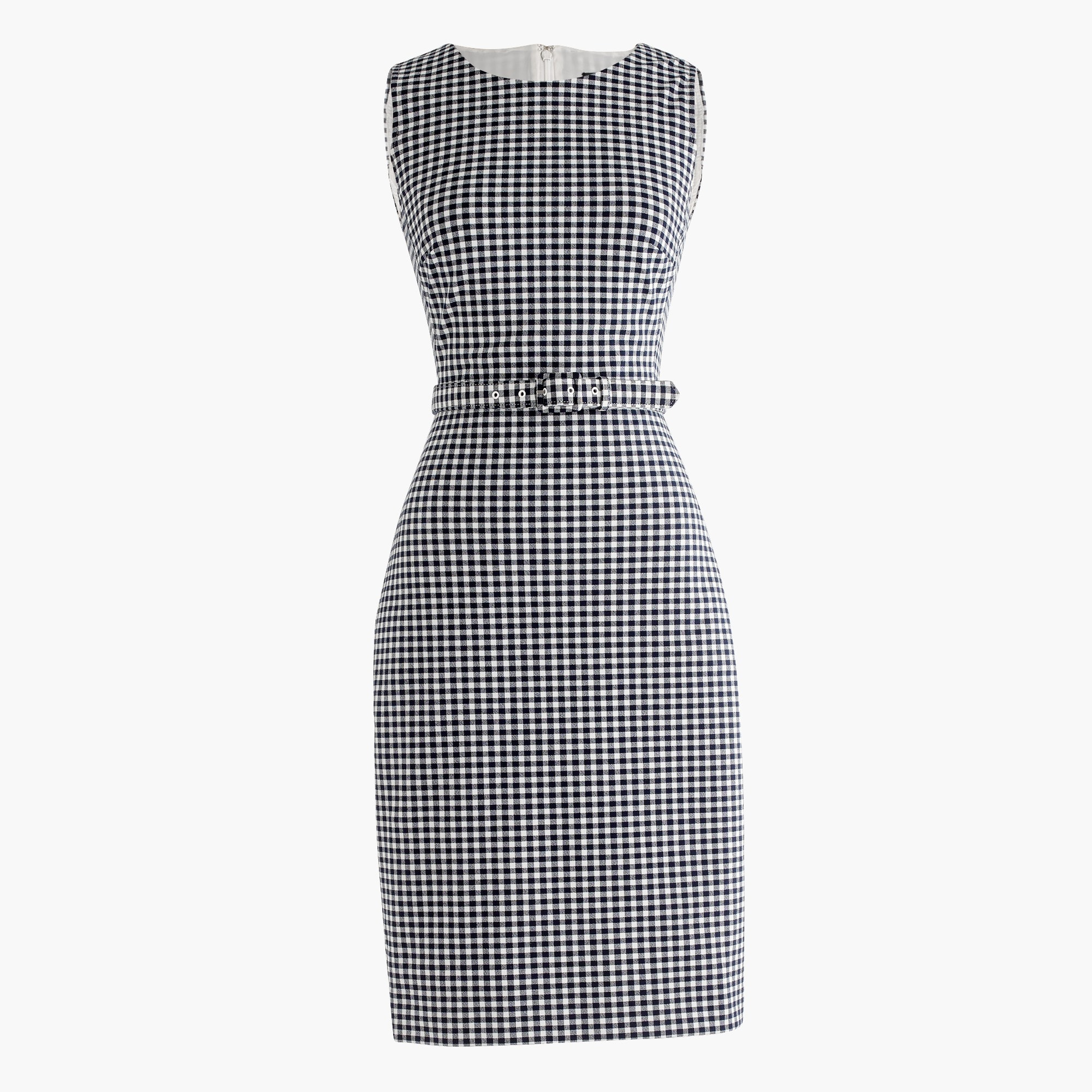 Belted gingham dress