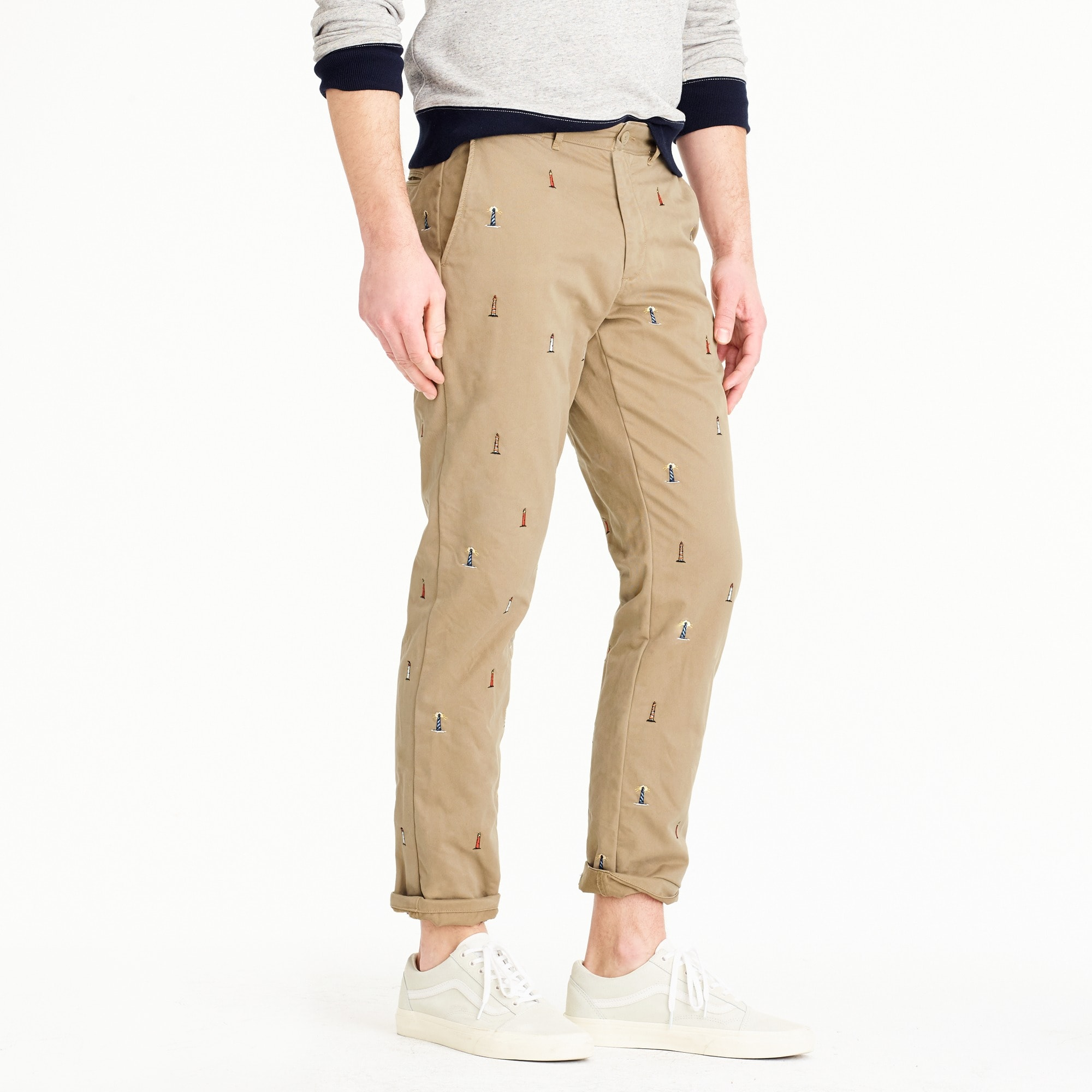 770 straight fit chino with embroidered lighthouses