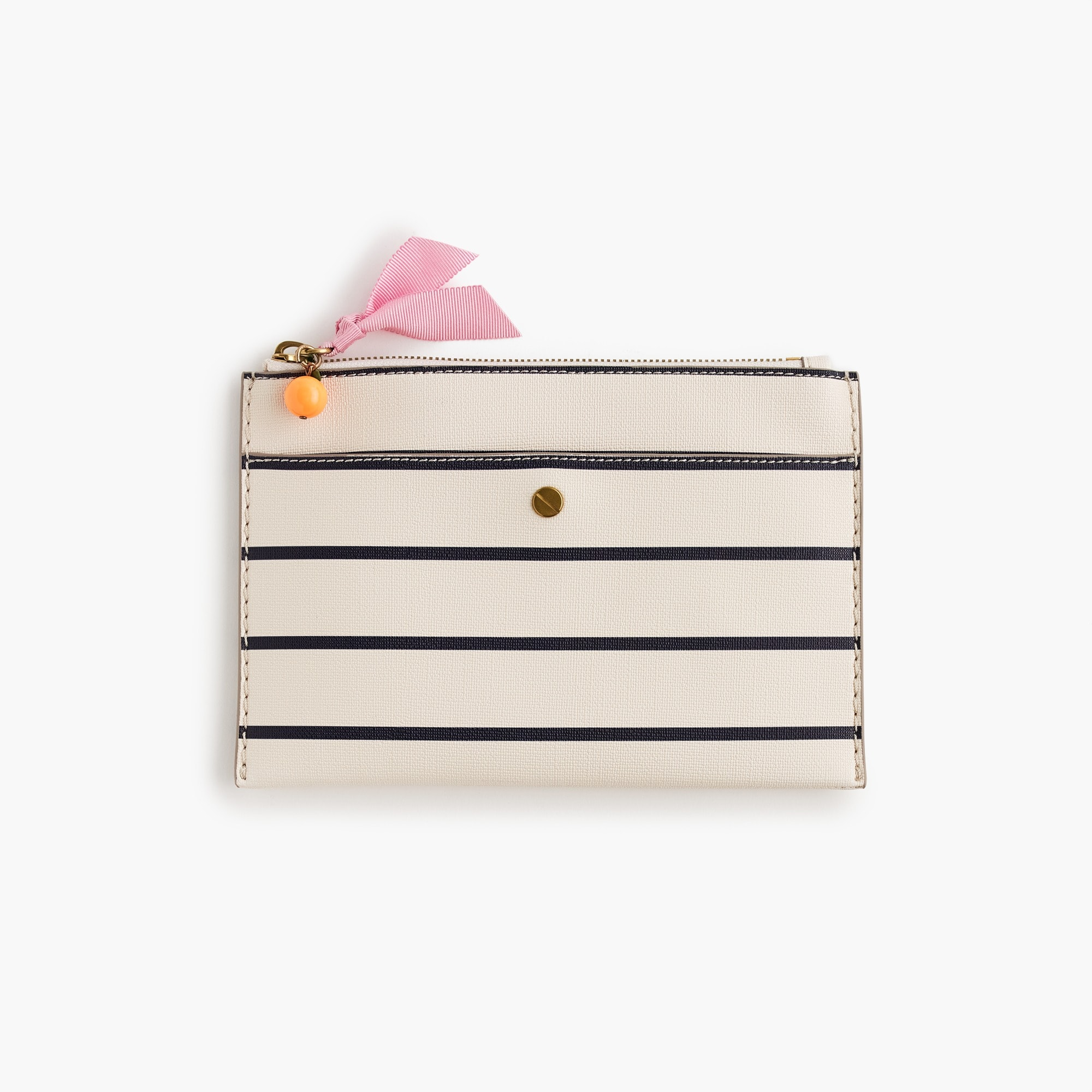 Striped medium pouch