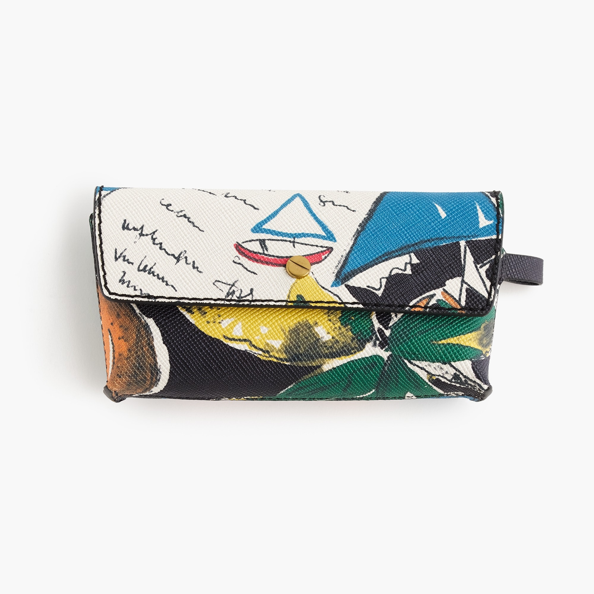 Sunglasses case in postcard print