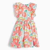Girls' ruffle dress in cactus floral