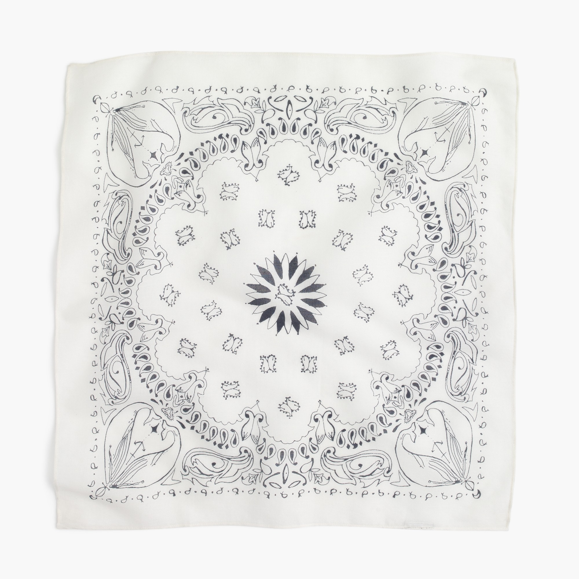 J.Crew for the Royal Ontario Museum whale bandana
