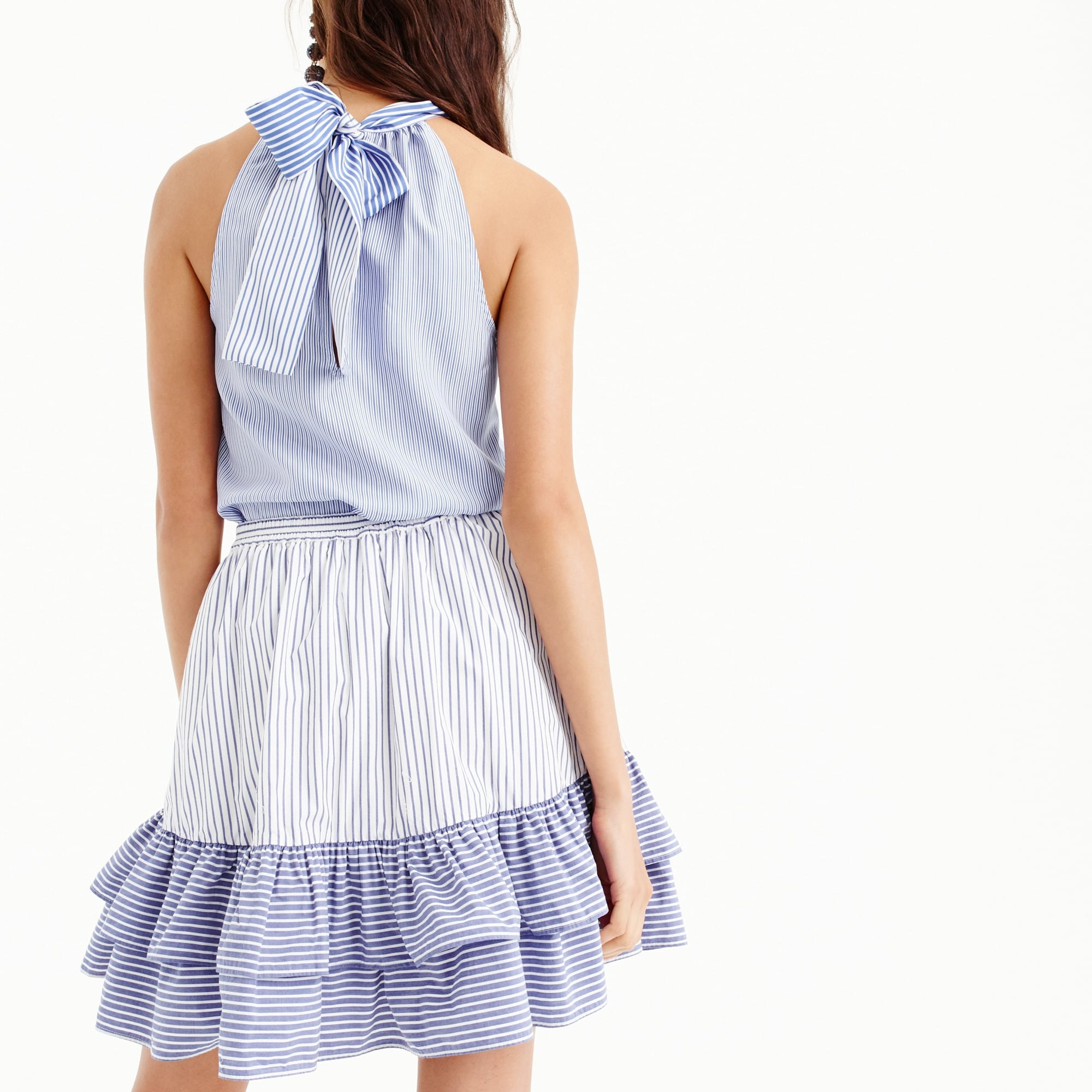 Striped ruffle skirt
