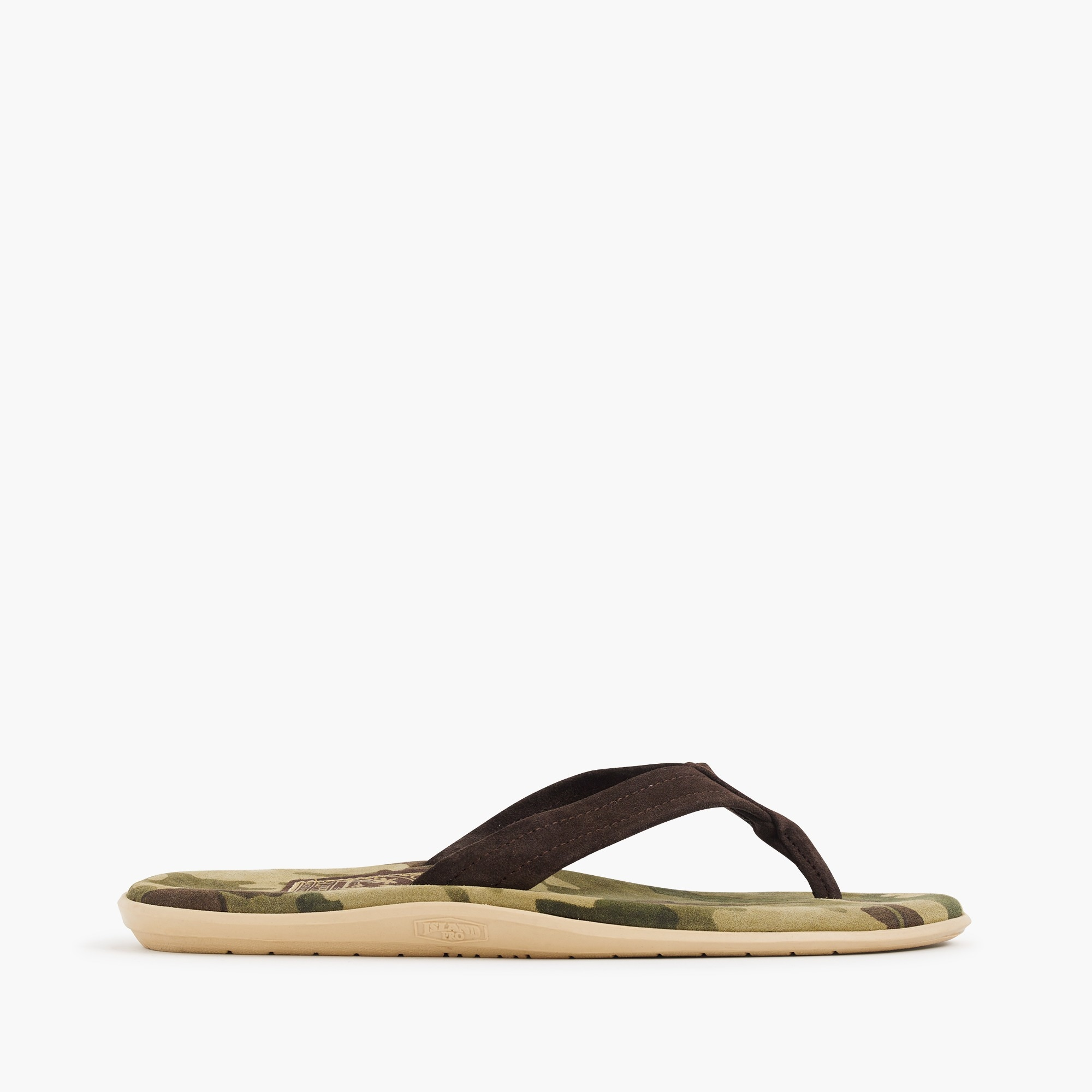 Island Slipper® flip-flops in camo men j.crew in good company c
