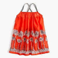 Girls' racerback cover-up in palm tree print