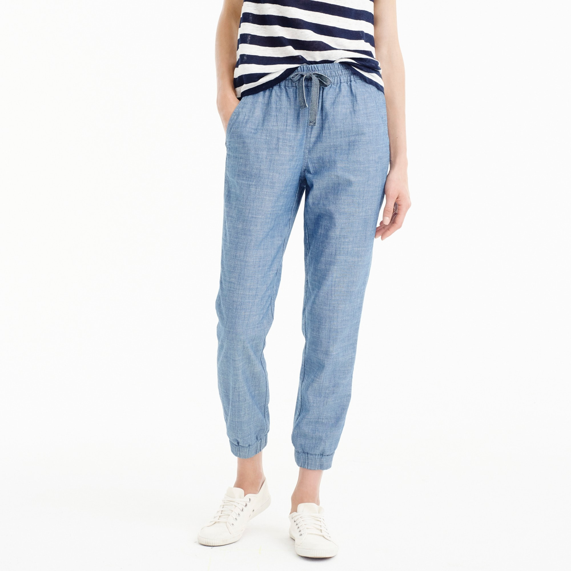 Point sur seaside pant in chambray women j.crew in good company c