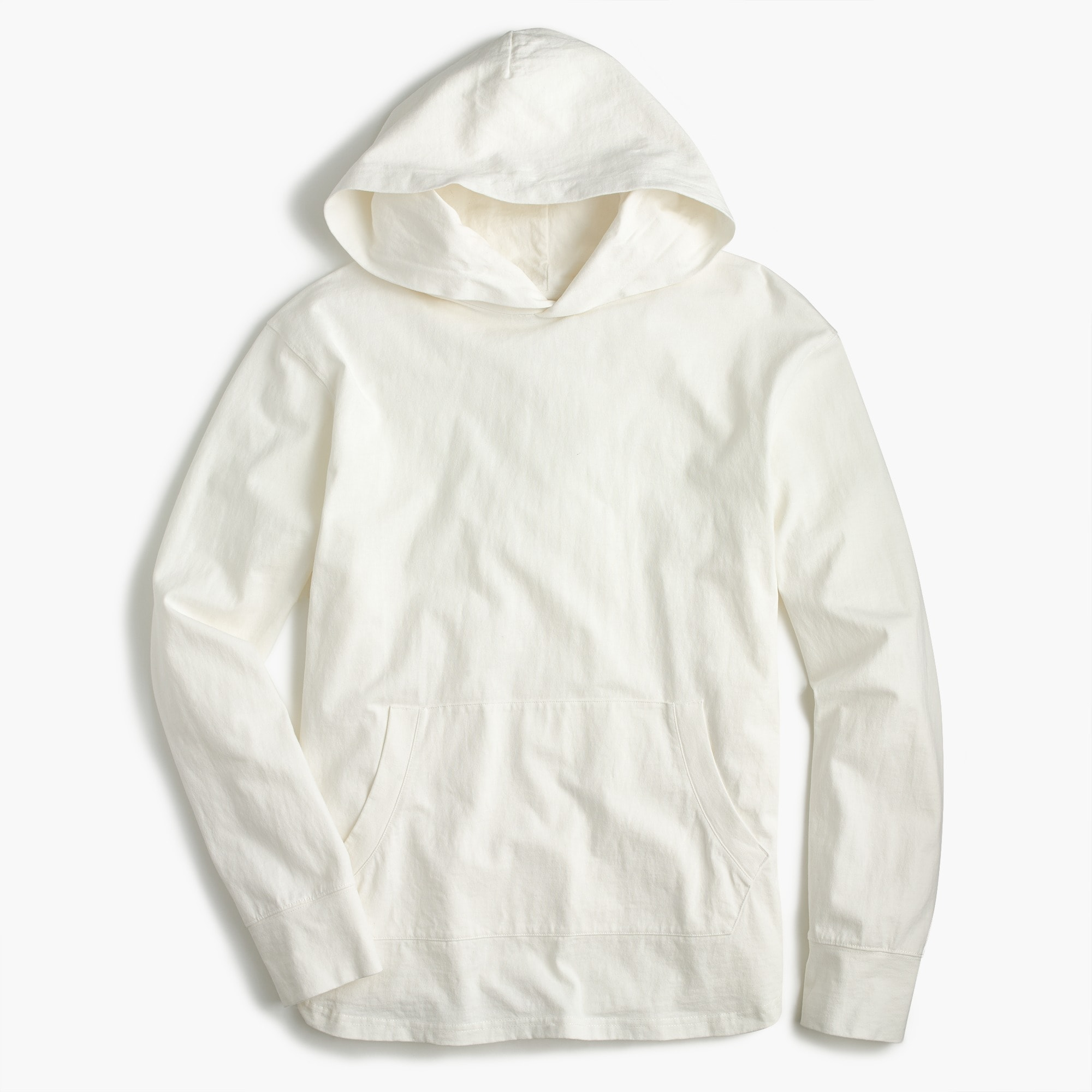 cotton pullover hoodie : men polostees