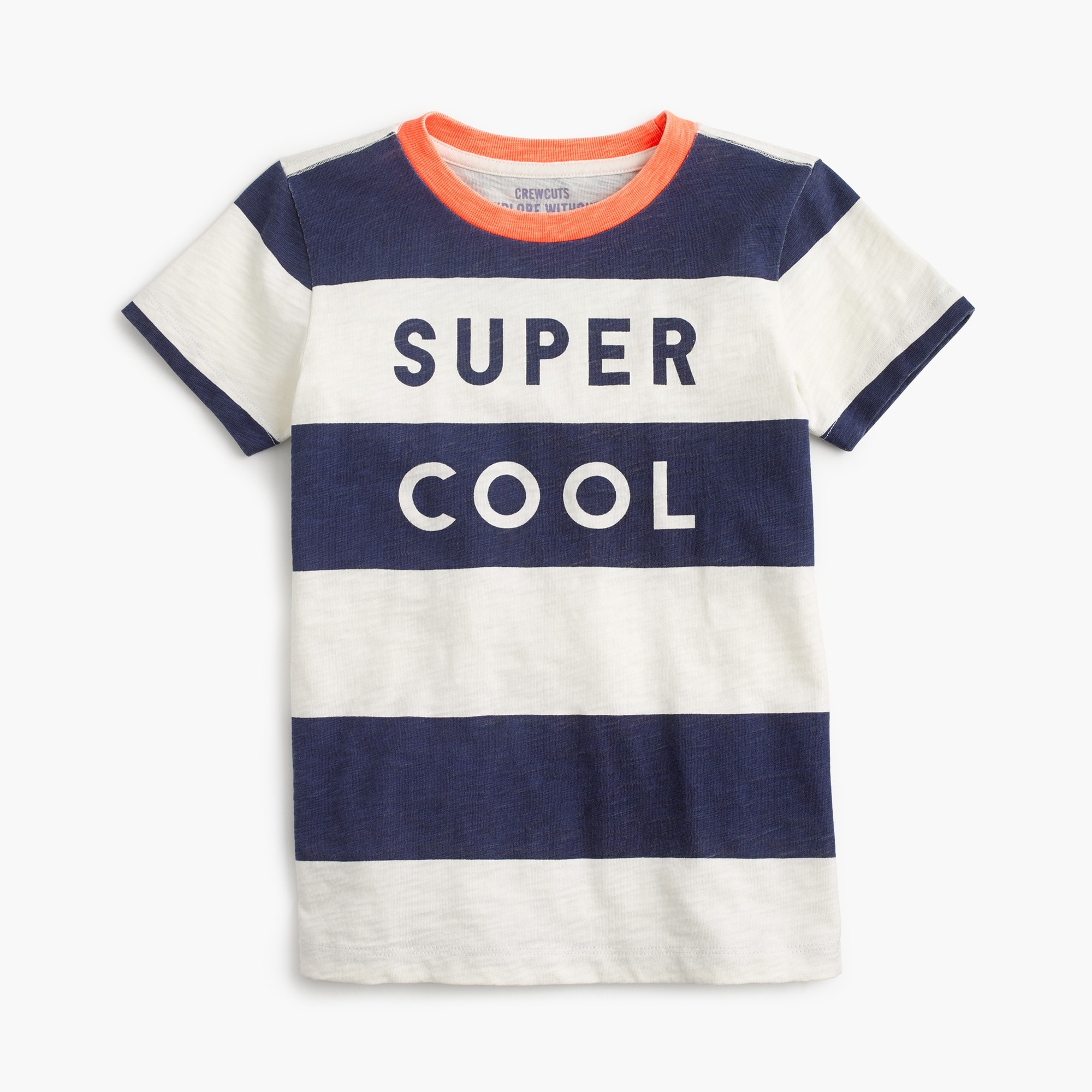 "boys' ""super cool"" striped t-shirt : boy stripes & novelty"