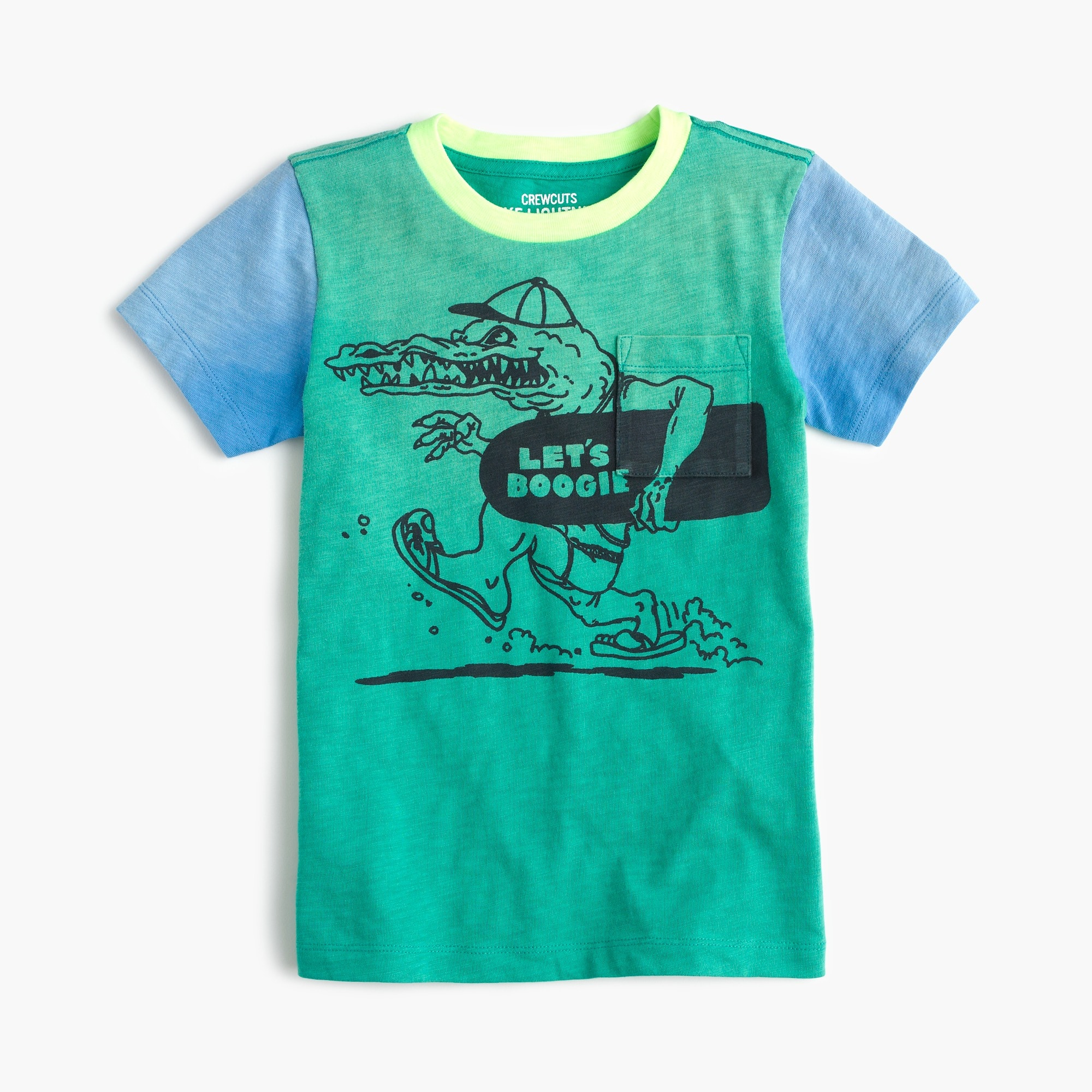 Boys' colorblocked boogie gator T-shirt