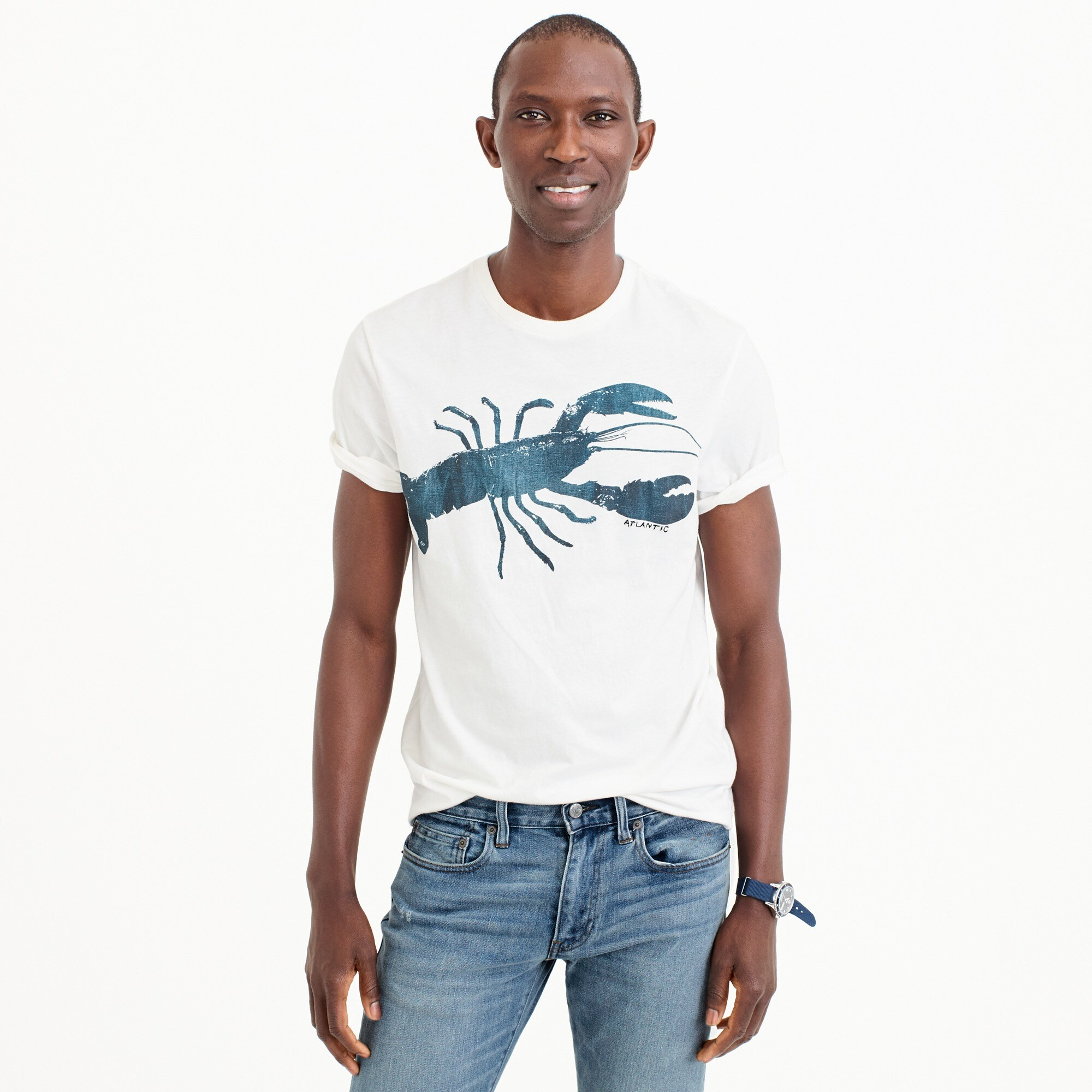 lobster graphic t-shirt : men short sleeve