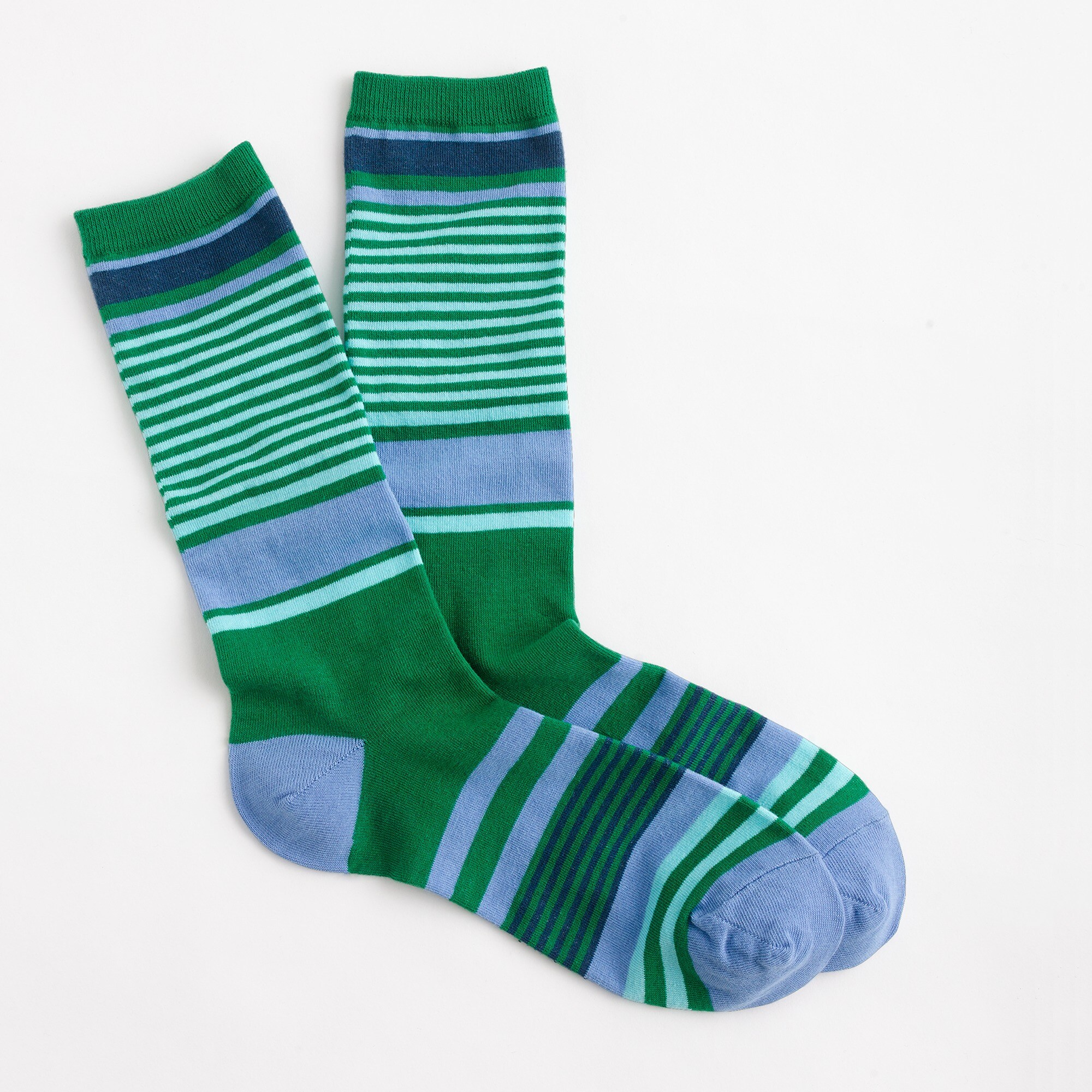 trouser socks in mixed stripe : women socks & tights
