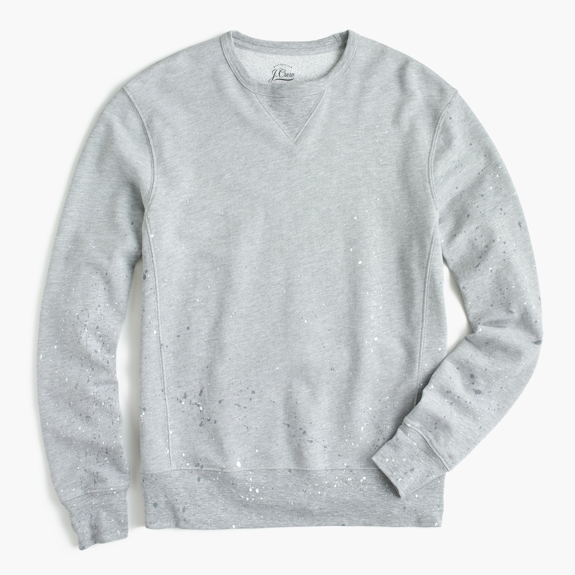 Crewneck sweatshirt in paint splatter