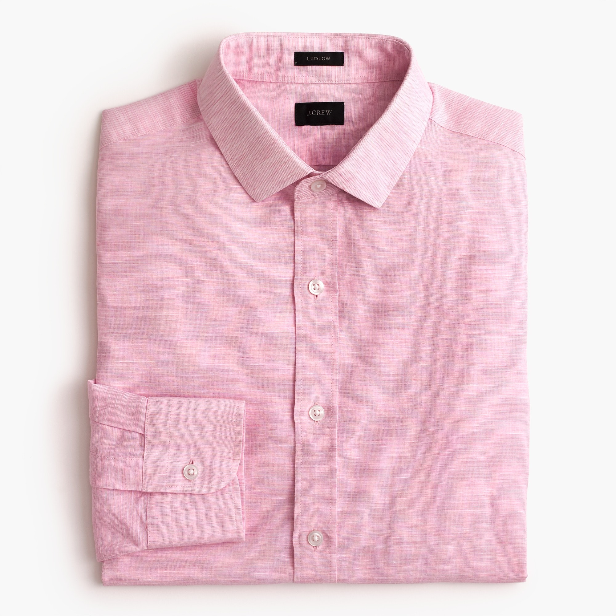 Ludlow shirt in end-on-end cotton-linen