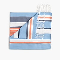 Striped beach blanket