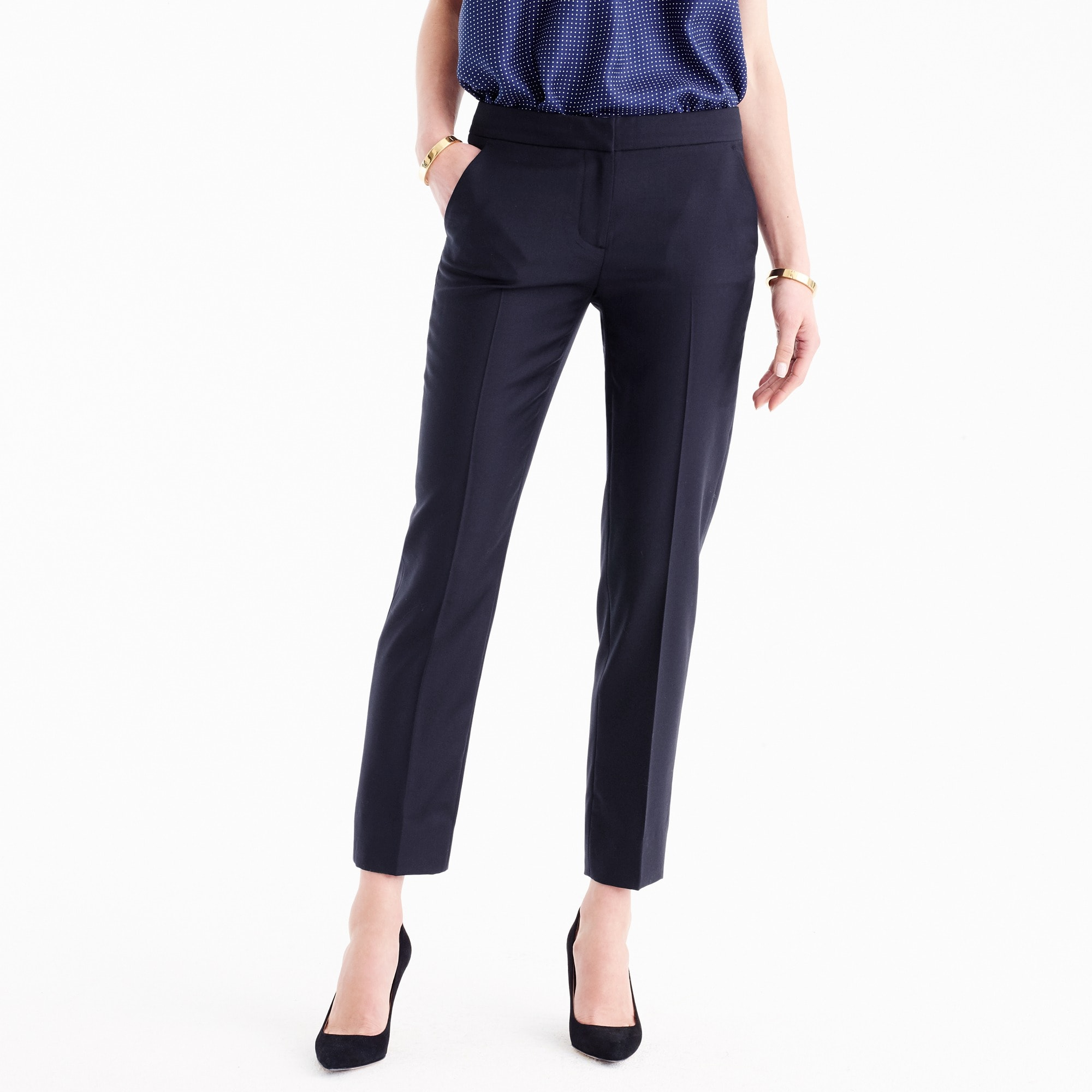 Petite Paley pant in Italian Super 120s wool