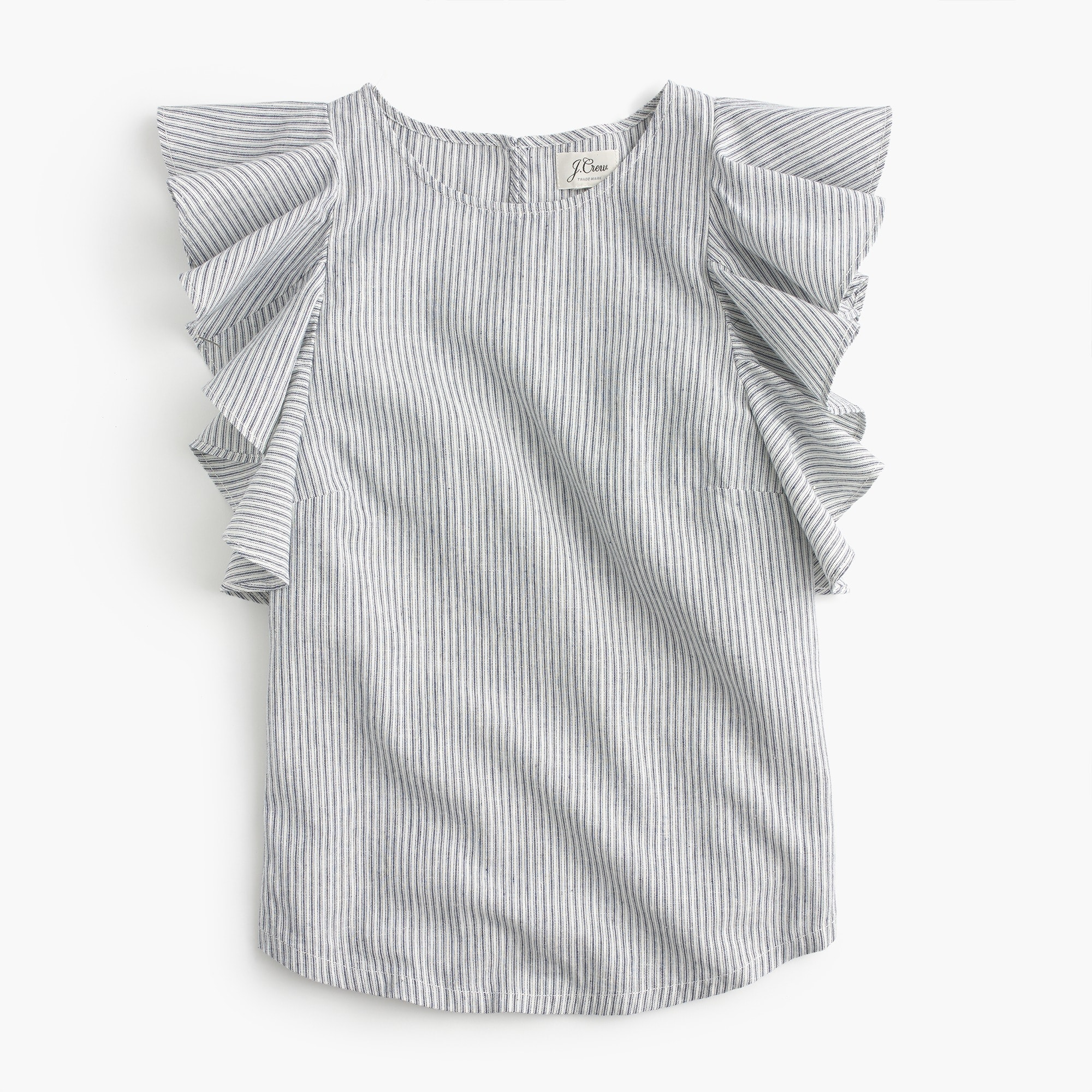 Image 6 for Petite ruffle top in stripe