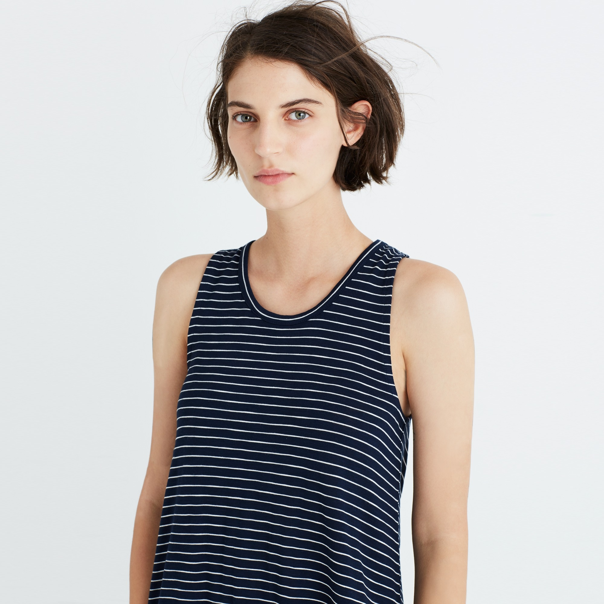 Madewell highpoint tank dress in chevron stripe women dresses c