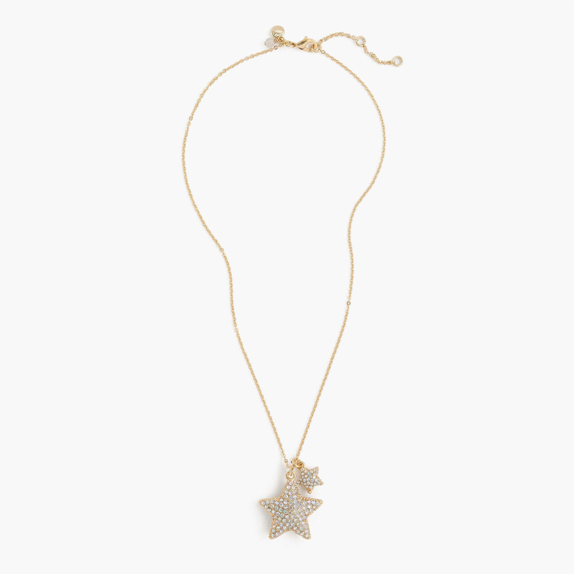 Girls' pavé star pendant necklace