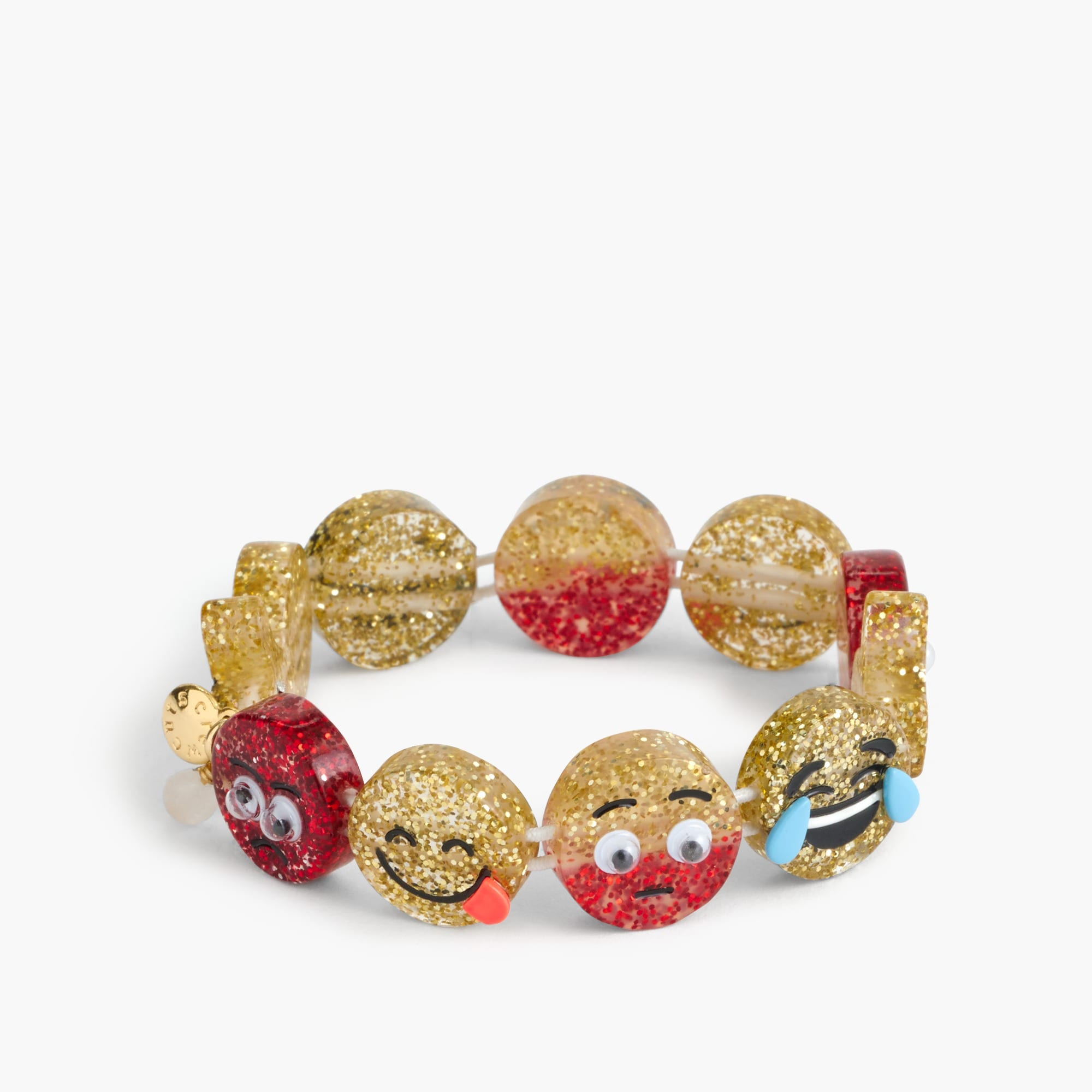 Image 1 for Girls' glitter emoji bracelet