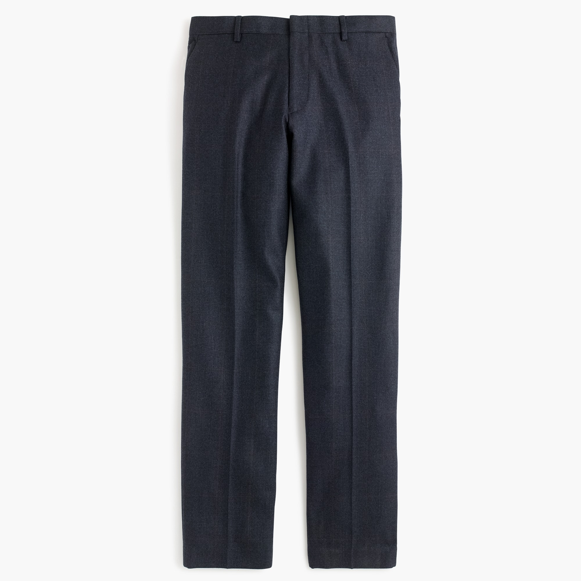 Ludlow slim suit pant in Italian glen-plaid wool